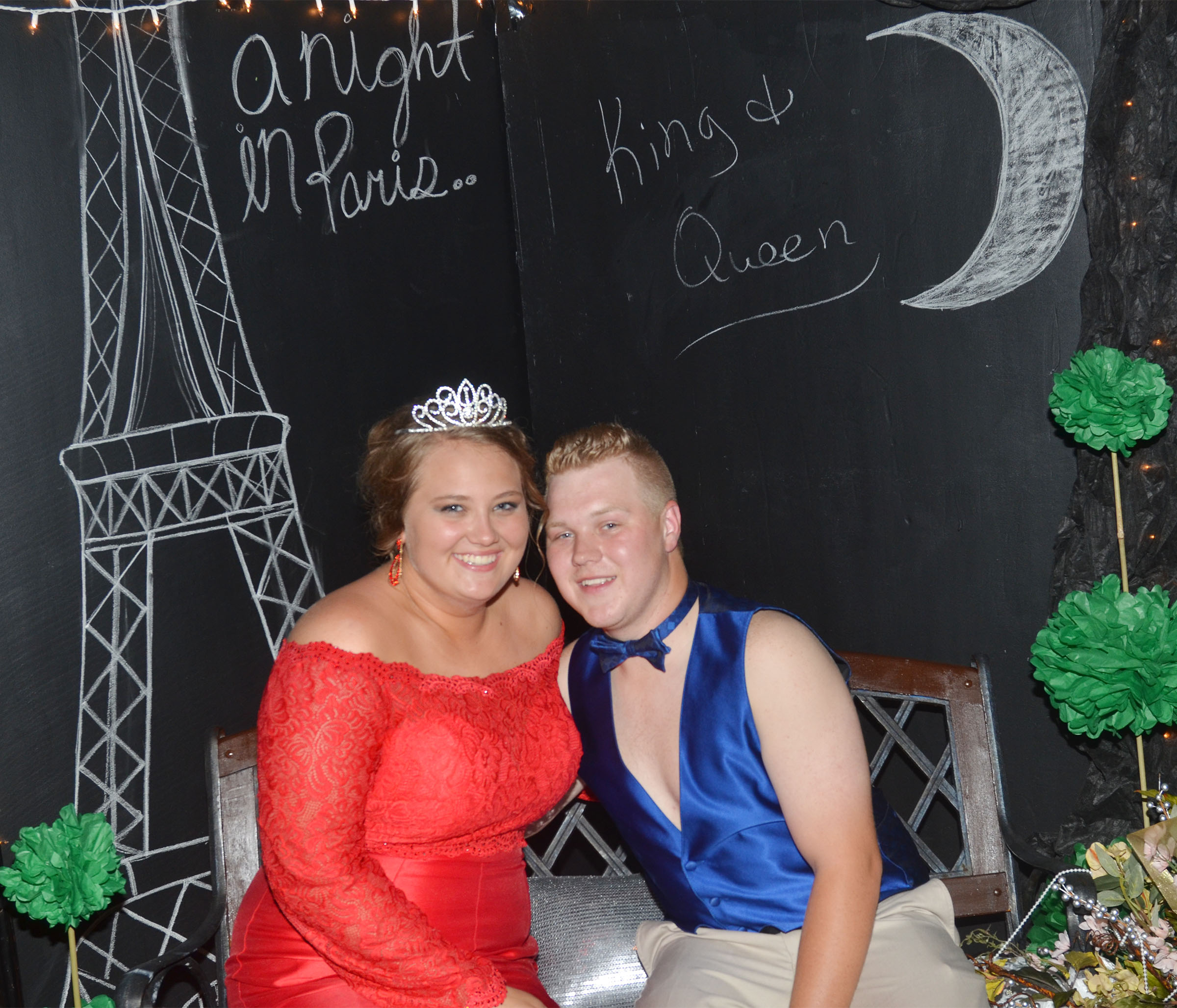 CHS seniors Noah Wagers and Brenna Wethington were named this year's prom king and queen.