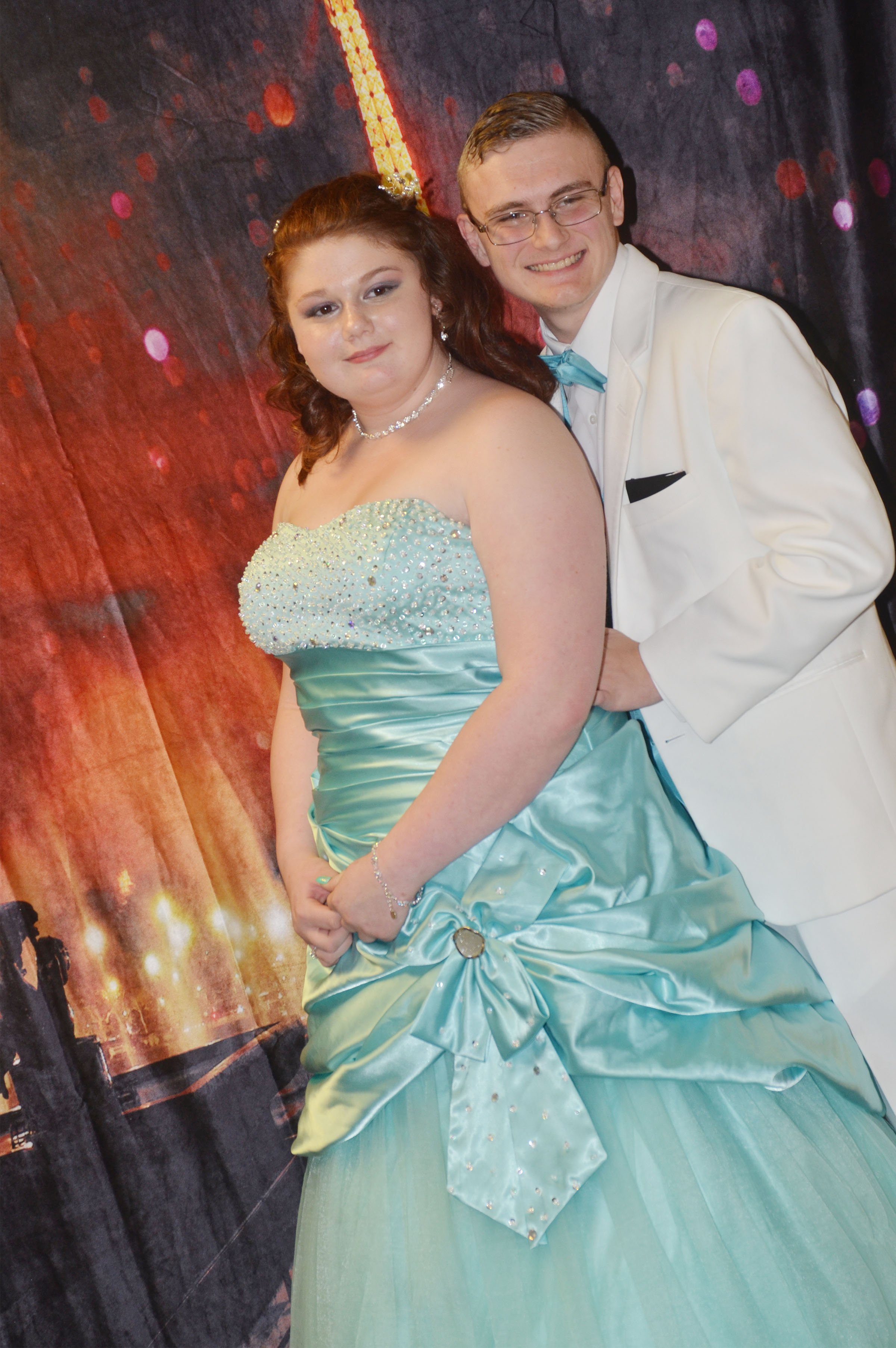 CHS senior Ben Rafferty poses for a photo with his date, freshman Rose Jefferson.