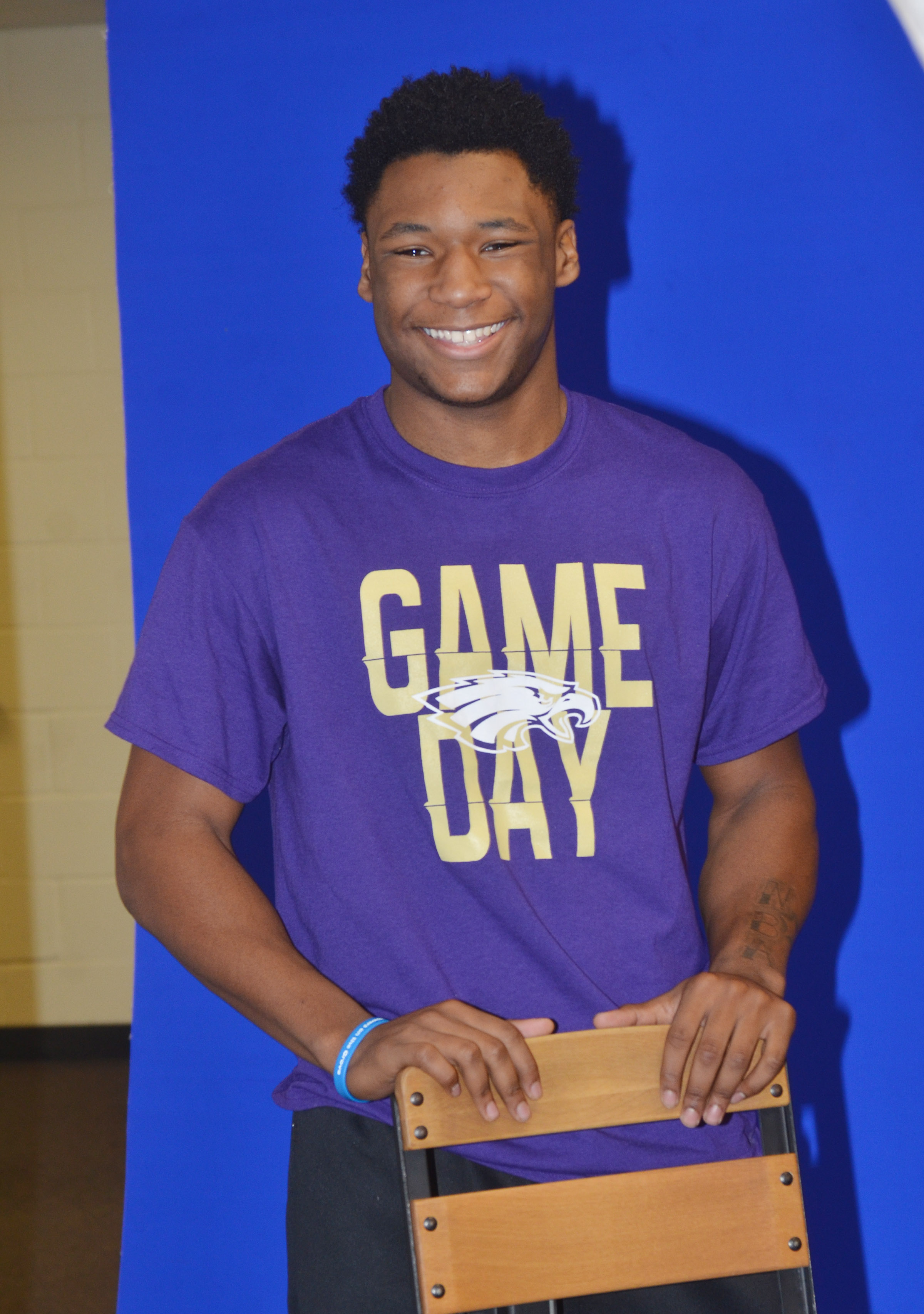CHS junior Taj Sanders smiles for his photo.