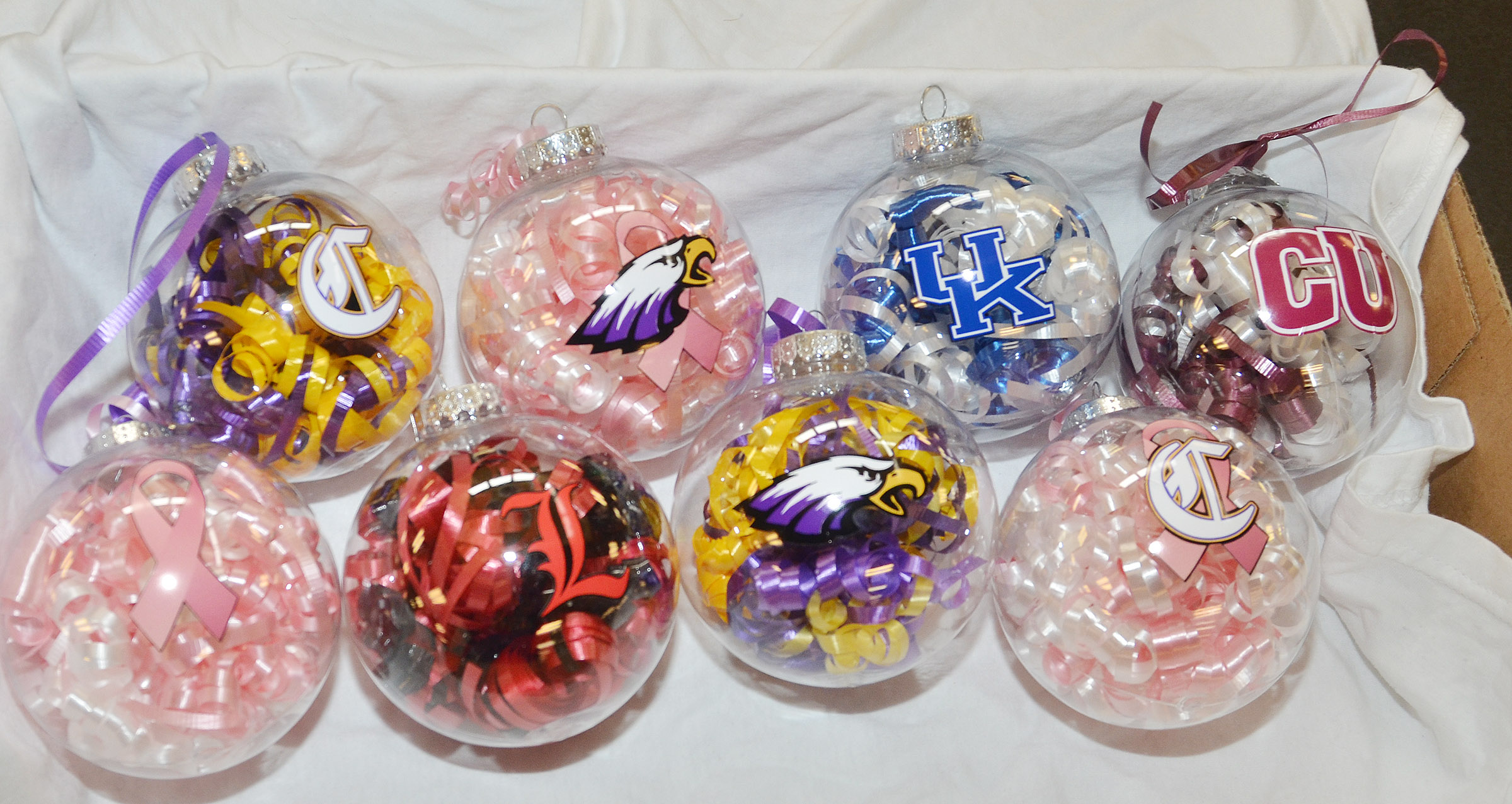 Campbellsville High School senior class members are selling these Christmas ornaments to raise money for project graduation. Ornaments are $6 each and can be purchased from any senior student or parent.