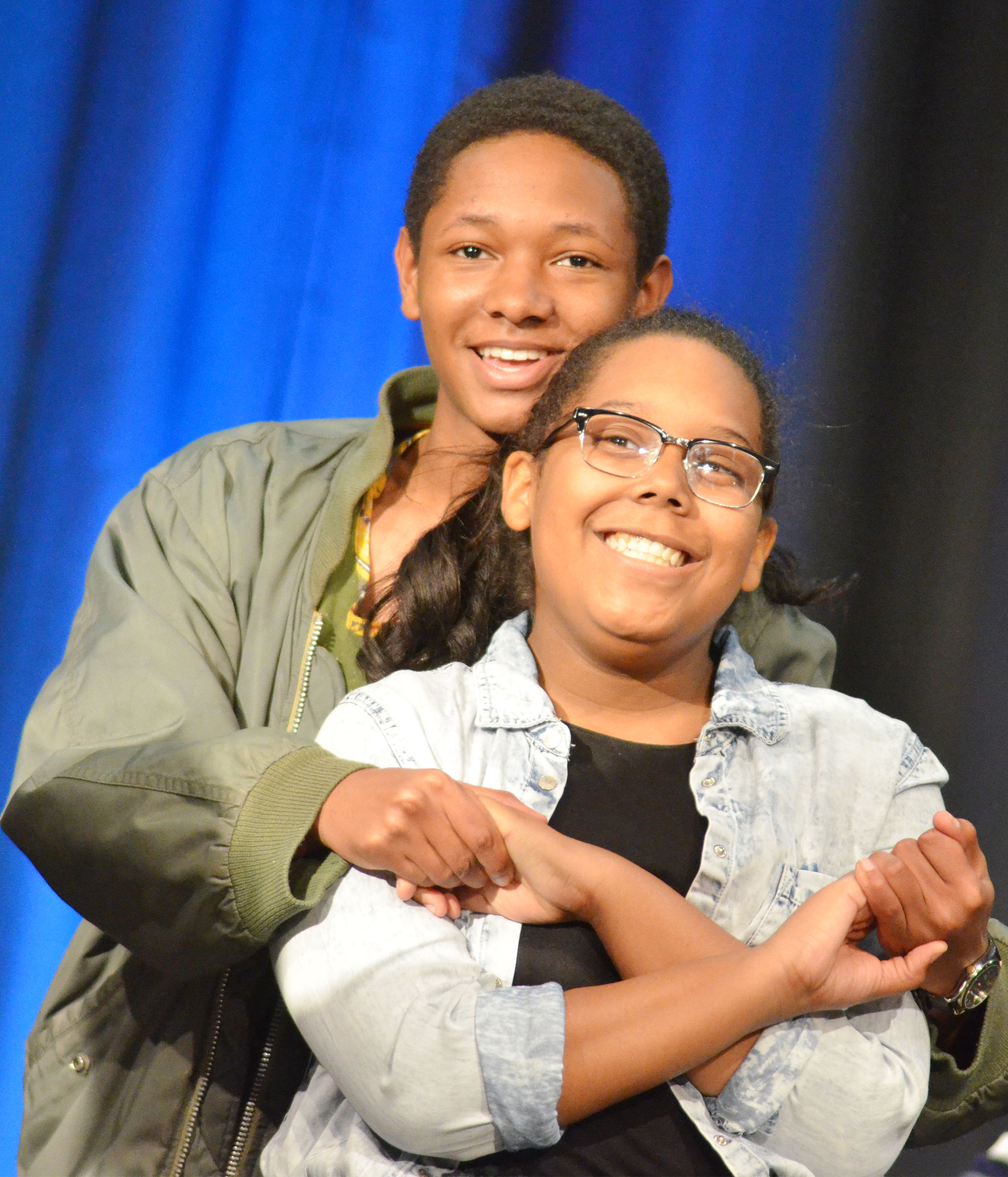 CHS senior Jaleel Cowan dances with his sister, Zaria, a freshman.