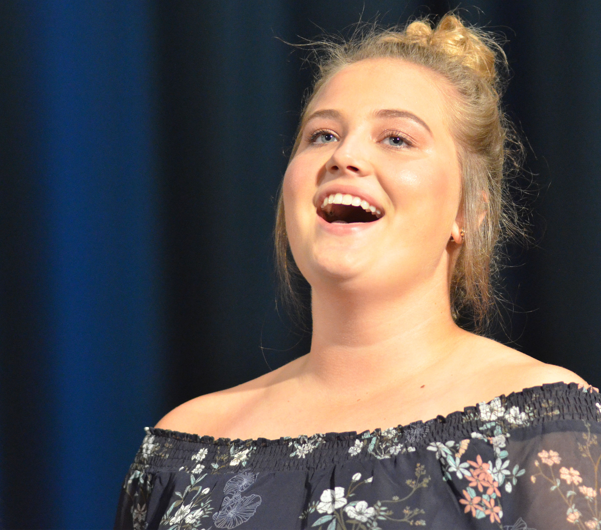 CHS senior Brenna Wethington sings.