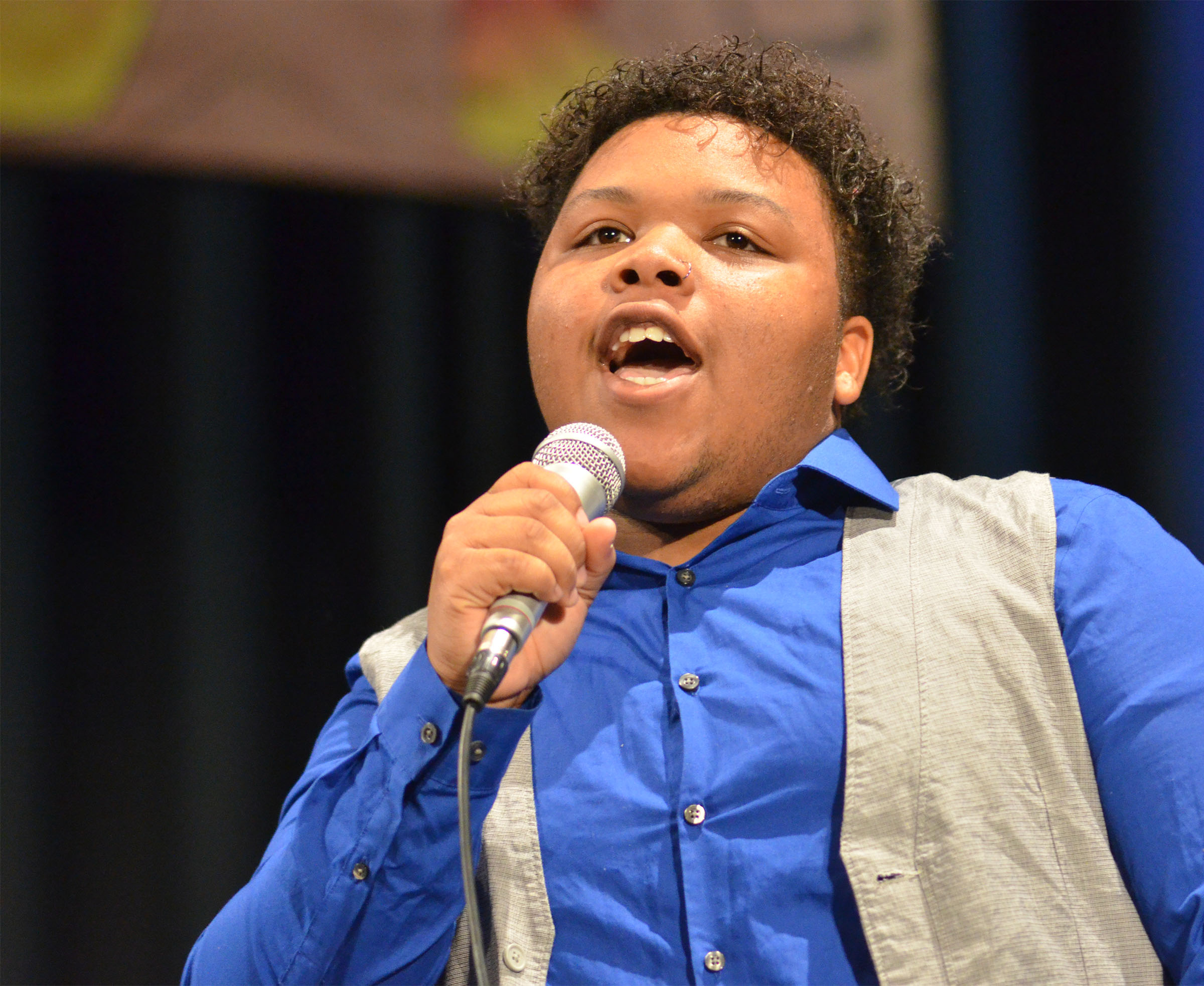 CHS junior Darius Wright sings.