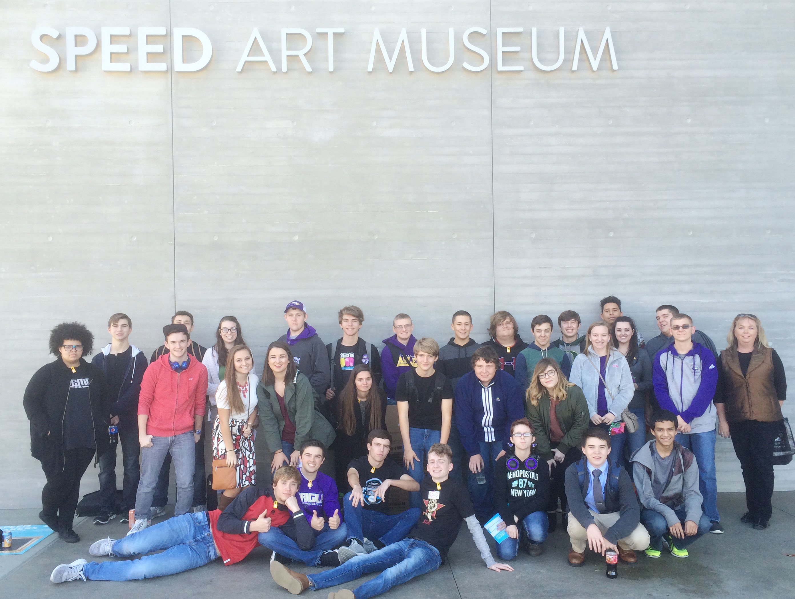 After competing in the Regional Showcase, the CHS STLP students toured Speed Art Museum.