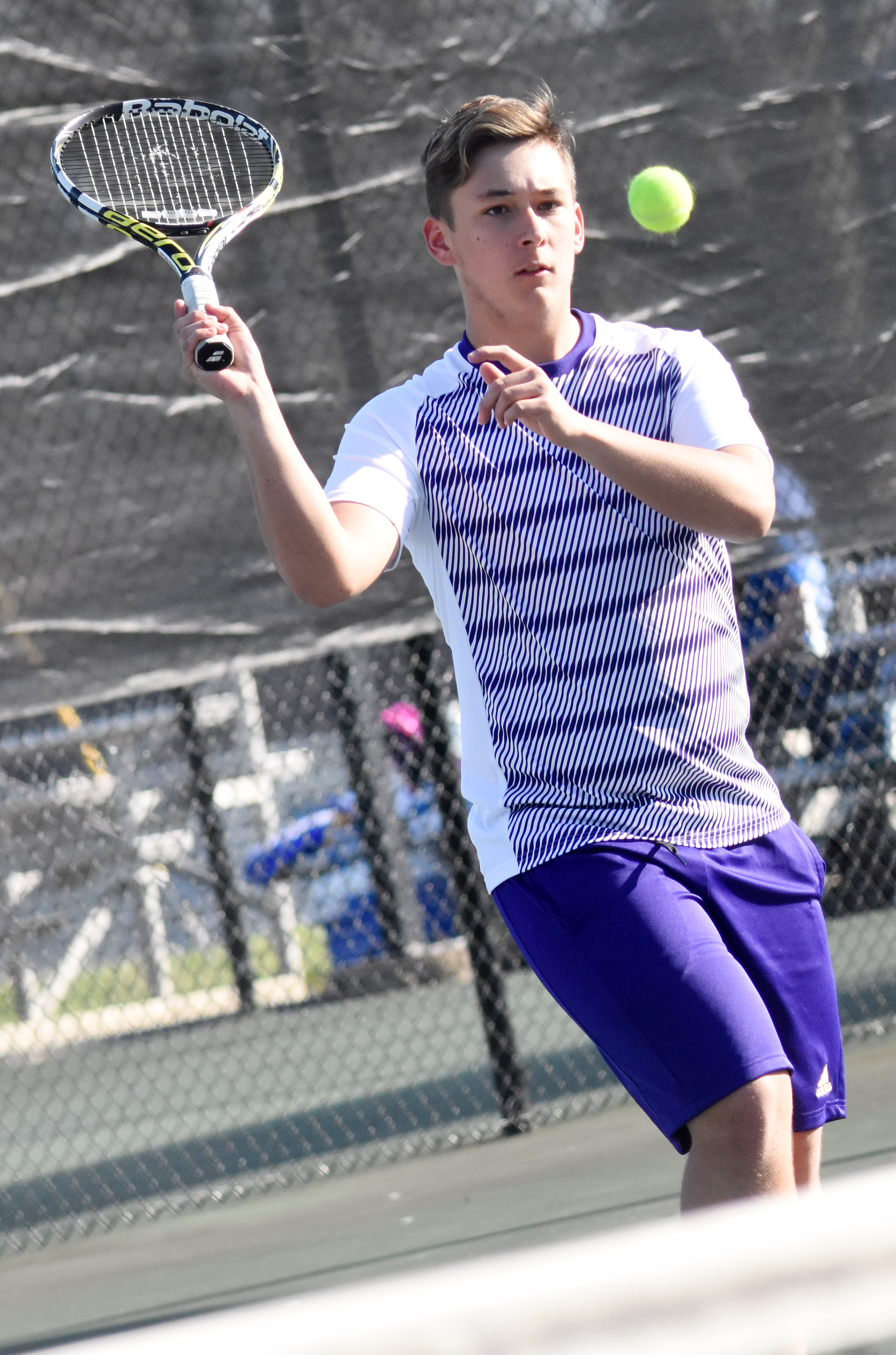 CHS senior Cody Davis hits the ball.