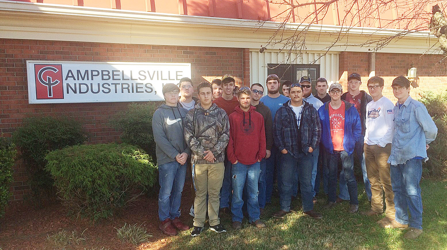CHS and Green County Area Technology Center students take a tour of Campbellsville Industries.