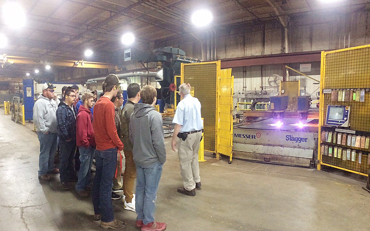CHS and Green County Area Technology Center students take a tour of Hendrickson.