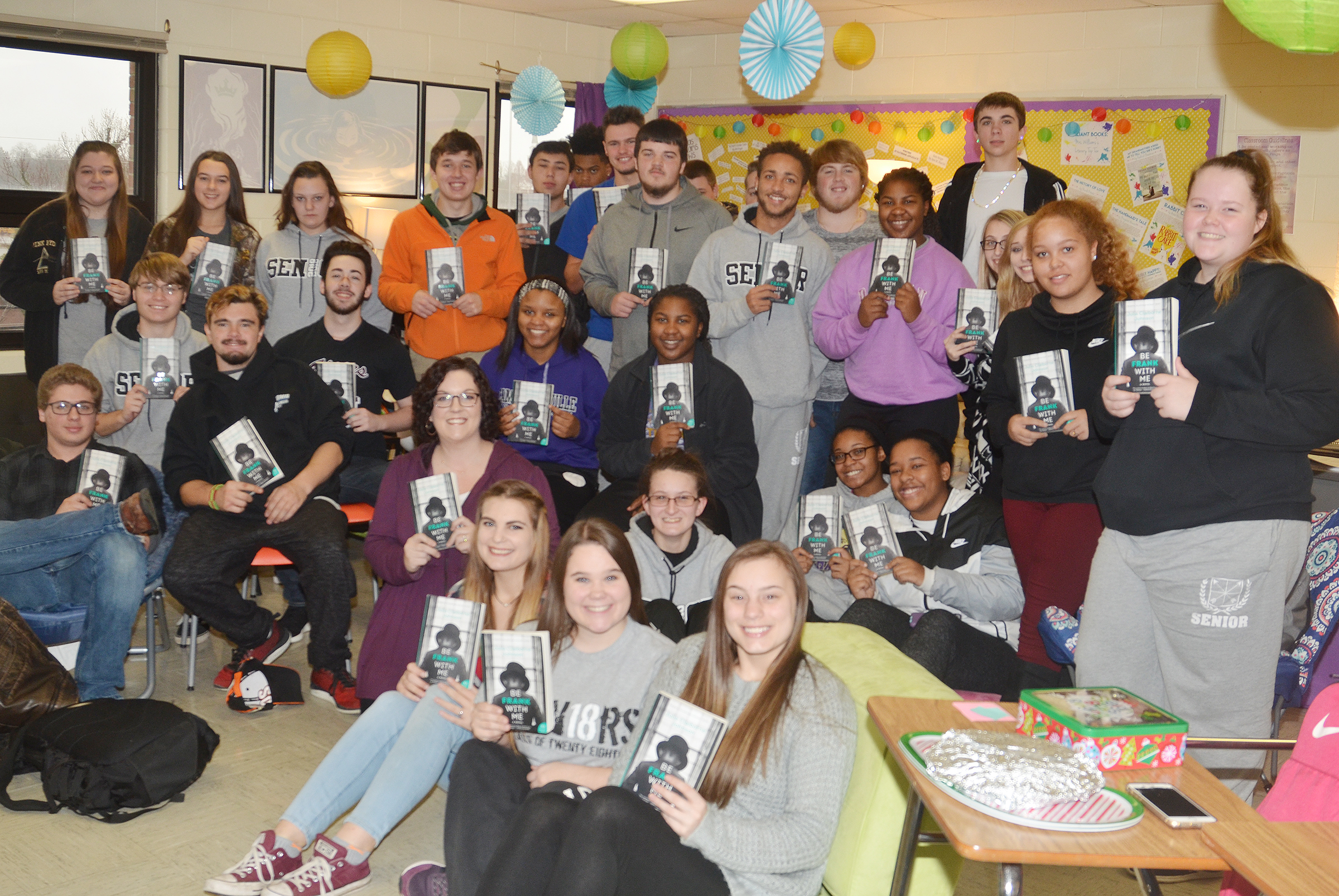 "Students studying English in Lindsay Williams's class recently read the book ""Be Frank With Me"" by Julia Claiborne Johnson and met her via Skype to discuss the novel."
