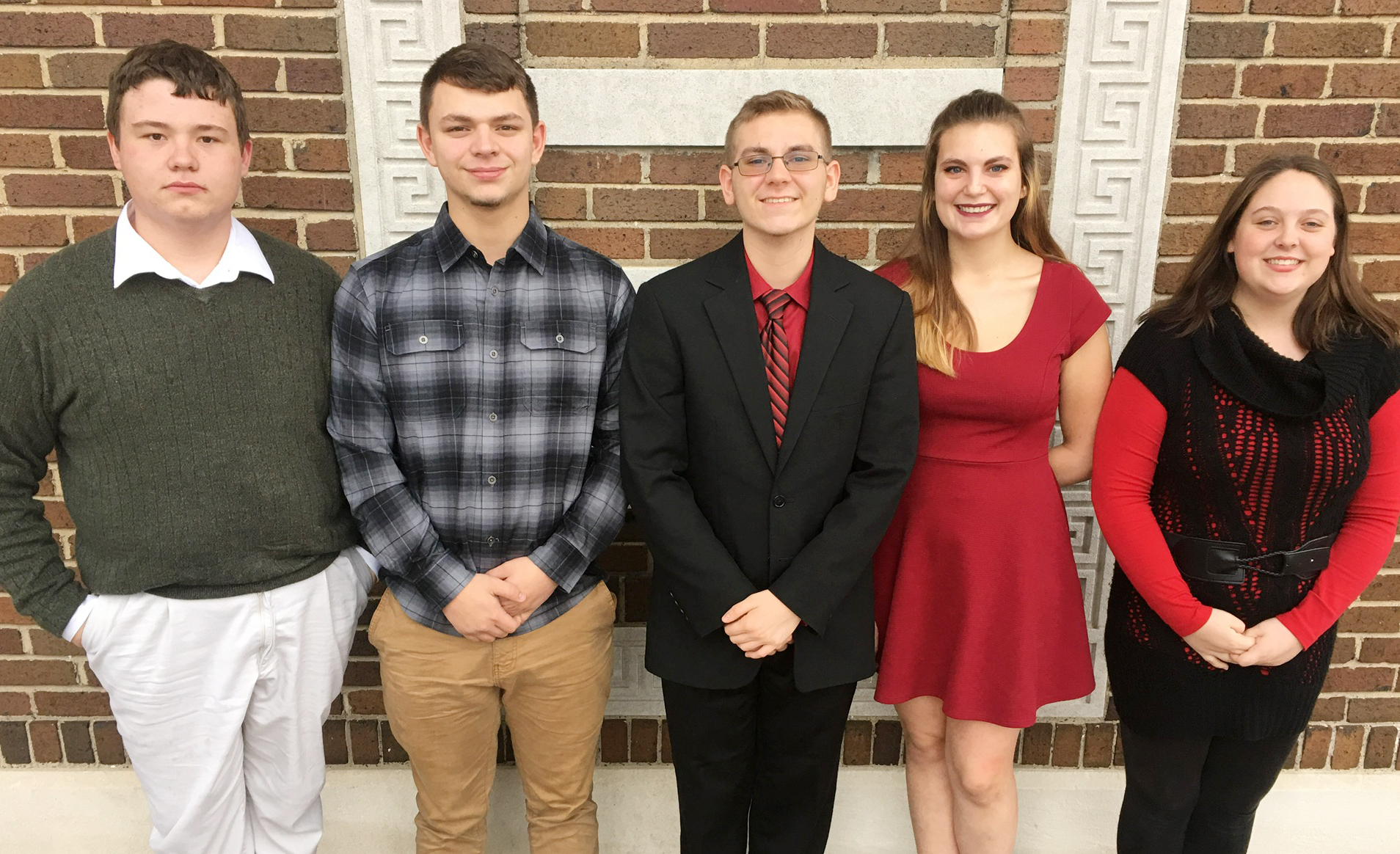 CHS students chosen to participate in the Western Kentucky University Honors Band Clinic include, from left, sophomore Conner Riley, senior Chaz Babbs, junior Brandon Greer, senior Tiffany Kane and junior Ruby Hatfield.