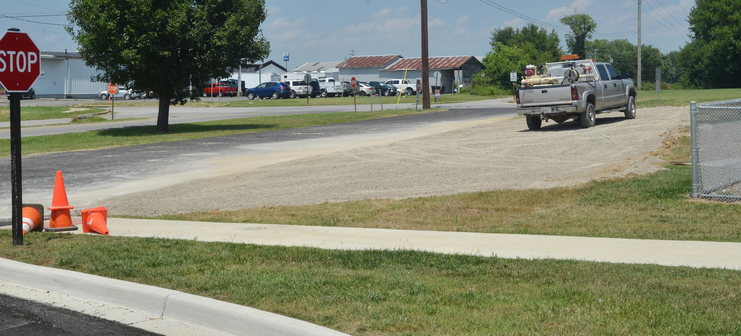 Additional parking has been created at CES, across from the CES preschool playground.