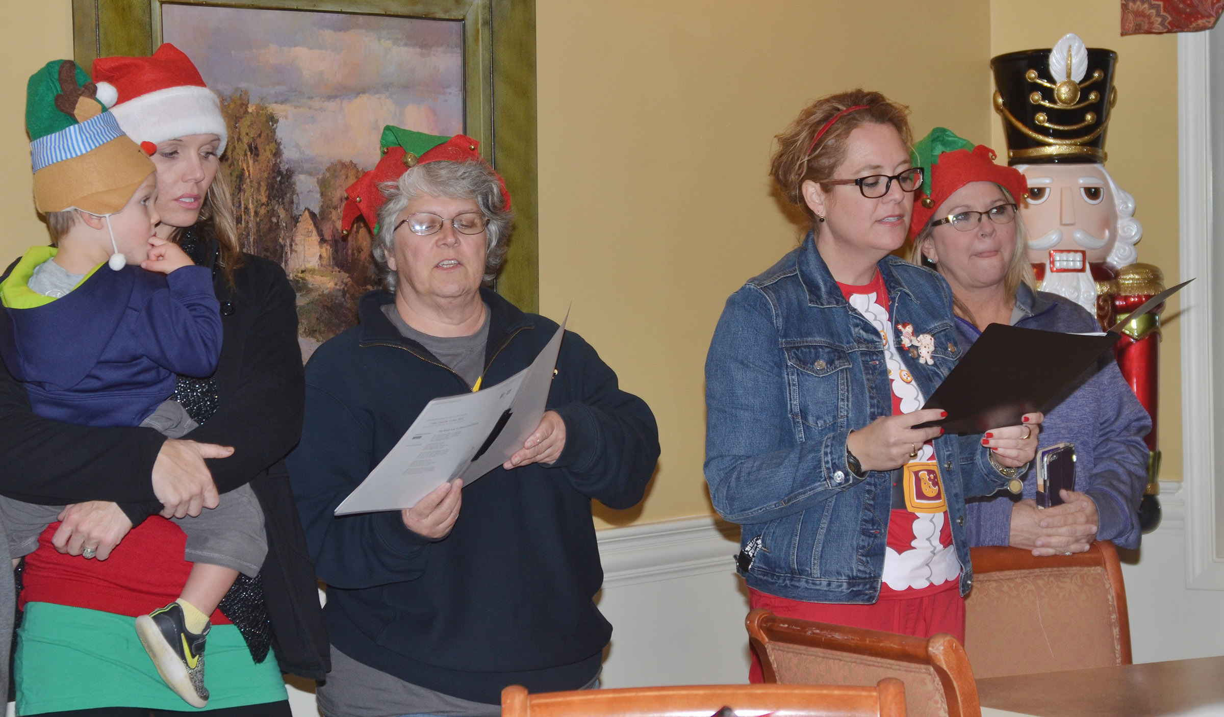 Campbellsville Independent Schools' students and teachers sing Christmas carols at Grandview.