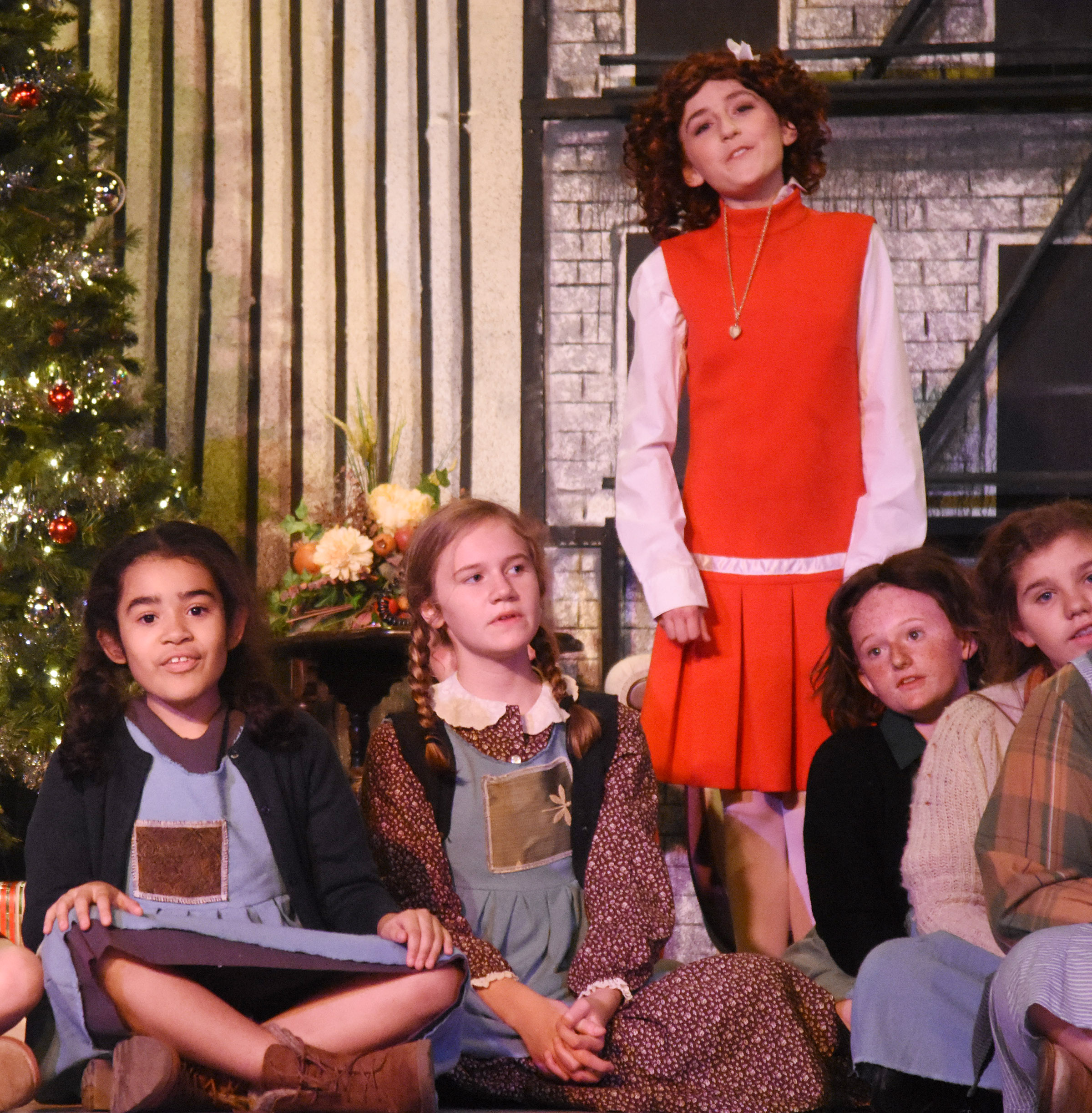 "Campbellsville Elementary School student Sophia Santos, at left, who will soon be a fourth-grader, has been cast as an orphan named Maria in the upcoming Campbellsville University production of ""Annie!"""