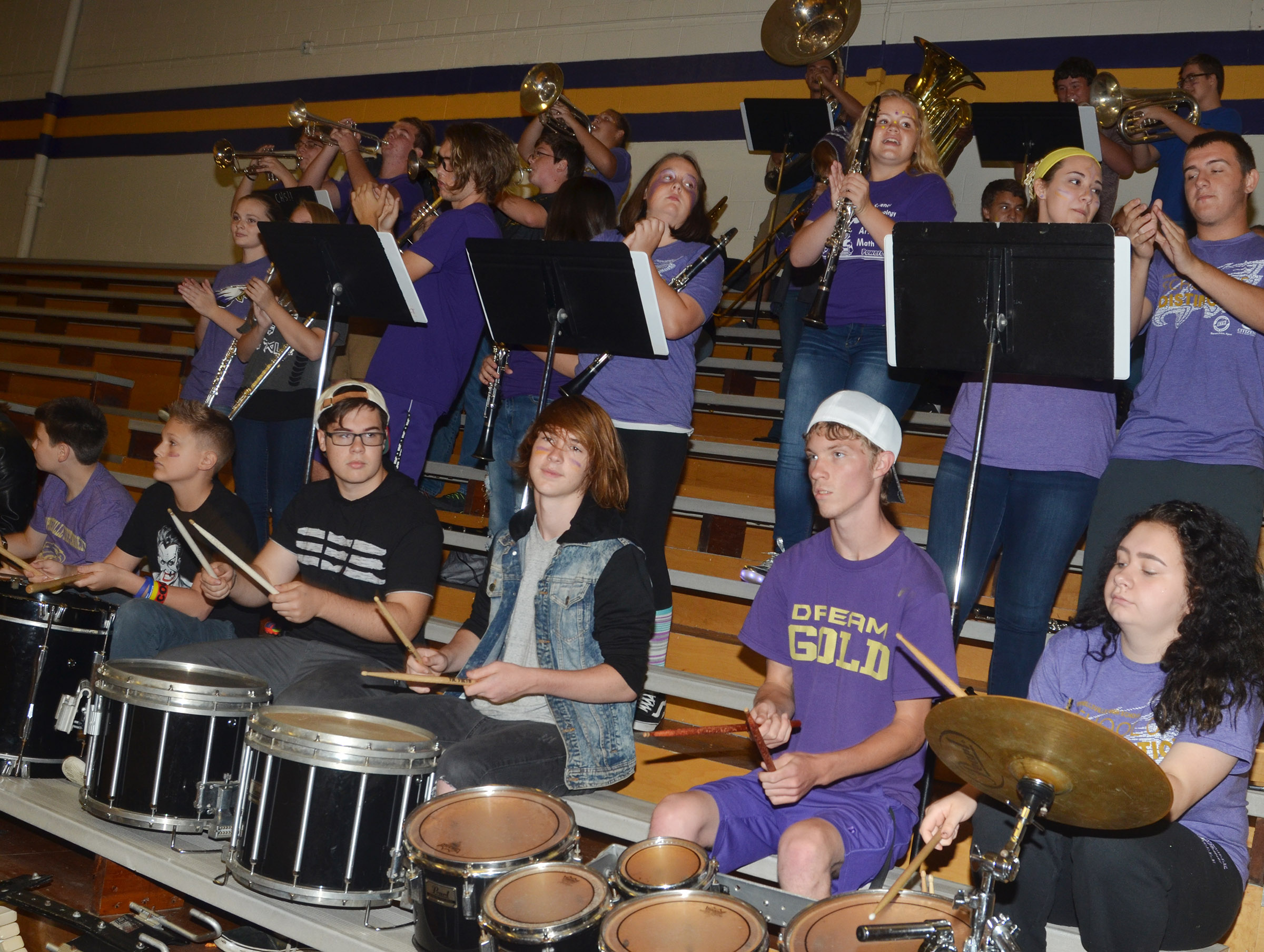 CHS Pep Band members play.