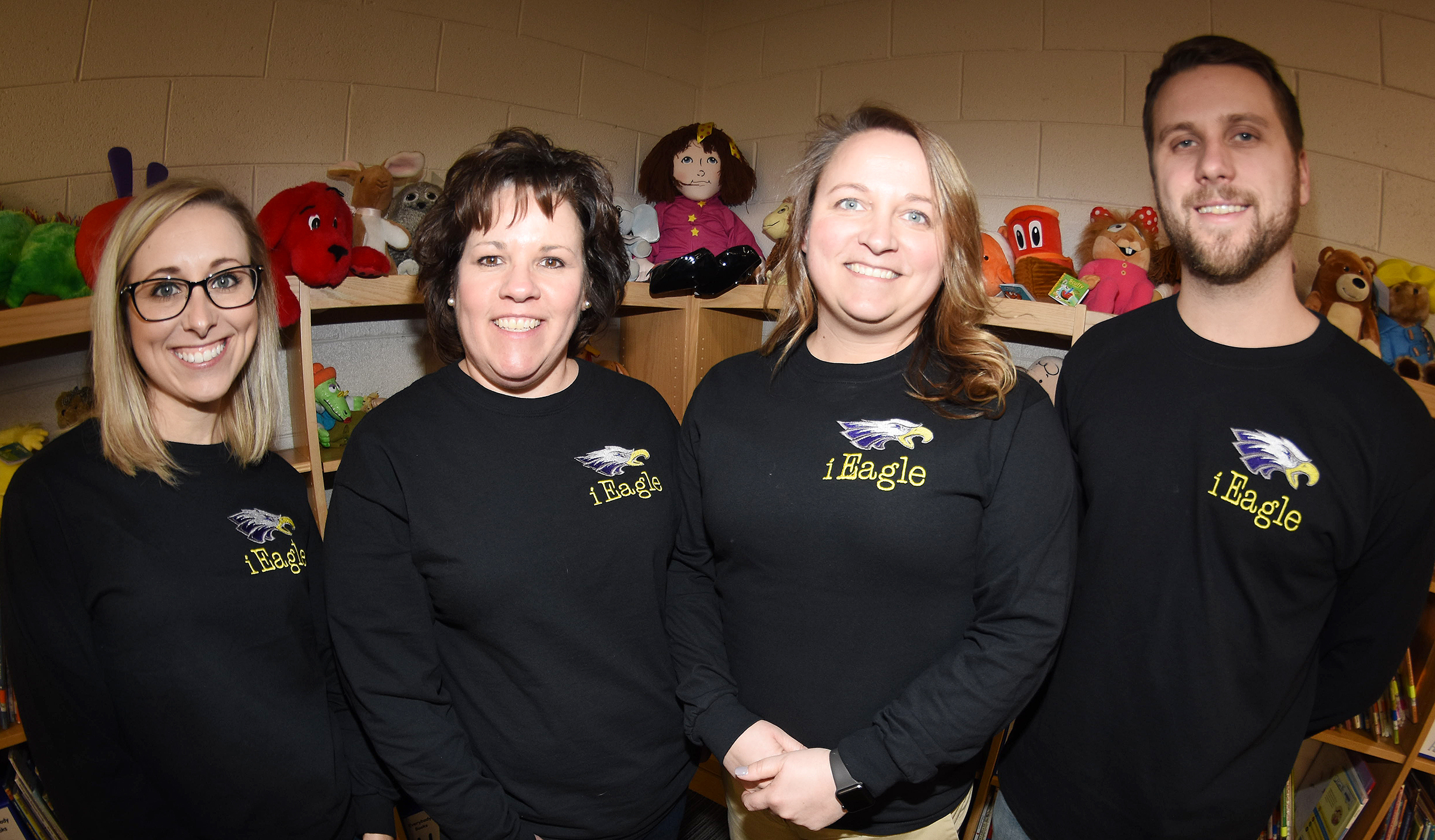 Campbellsville Independent Schools will soon open a new innovation center for students to immerse themselves in hands-on, authentic learning. The Eagle Center of Innovation, also called iEagle, will open in August. Four teachers have been selected to lead classes at iEagle, including, from left, lead teacher Hannah Jones and teachers Tracey Rinehart, Katie Campbell and Tyler Hardy.