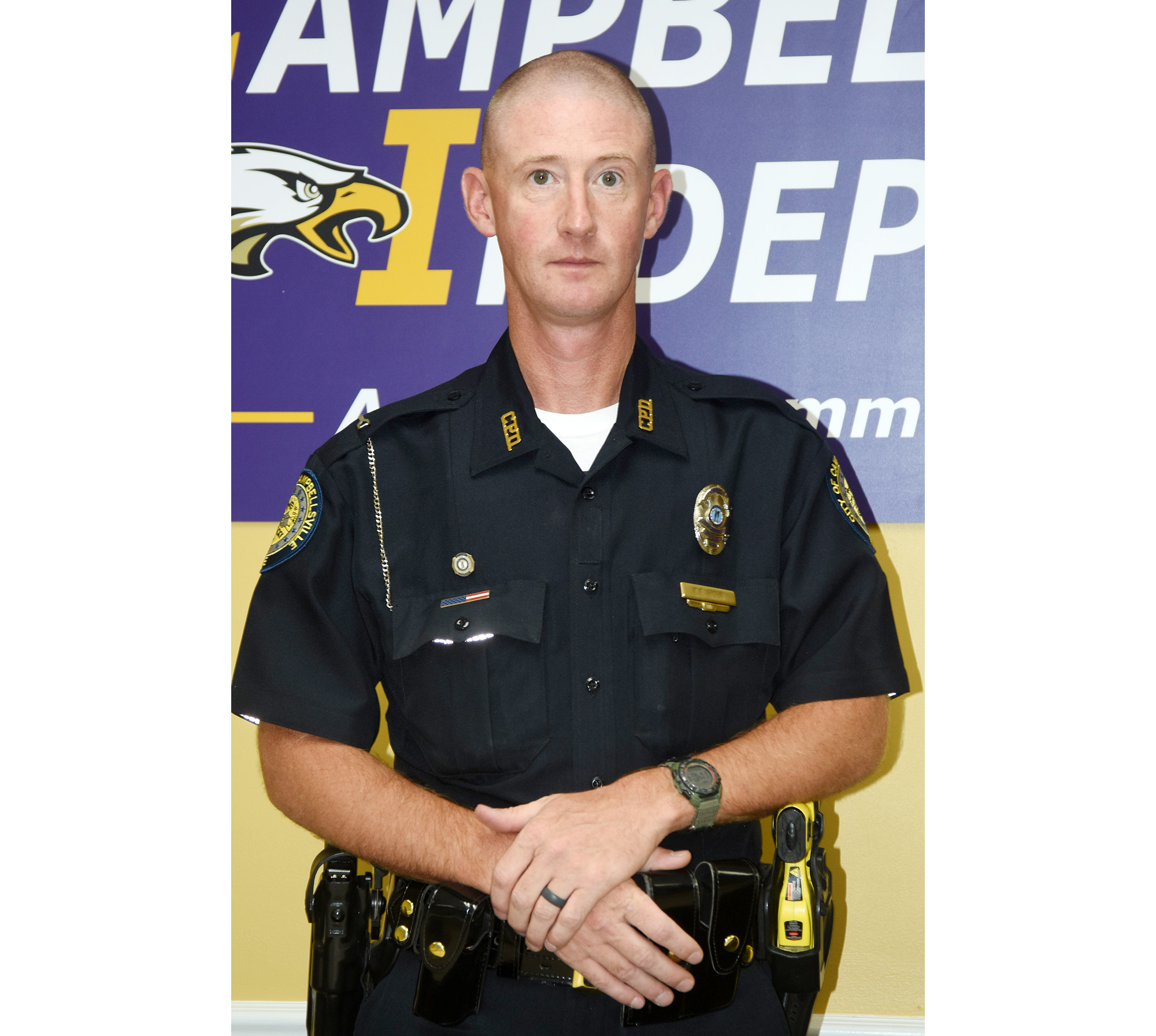 Campbellsville Independent Schools' students will begin the 2018-2019 school year in a few weeks, and will see a new face in the hallways.    CIS has contracted with Campbellsville Police to employ a School Resource Officer, who will be stationed at the Campbellsville High School campus.    Officer Charlie Houk has been assigned to the SRO post.    While Houk's office will be at the CHS campus, he will provide safety and security at Campbellsville elementary, middle and high schools.