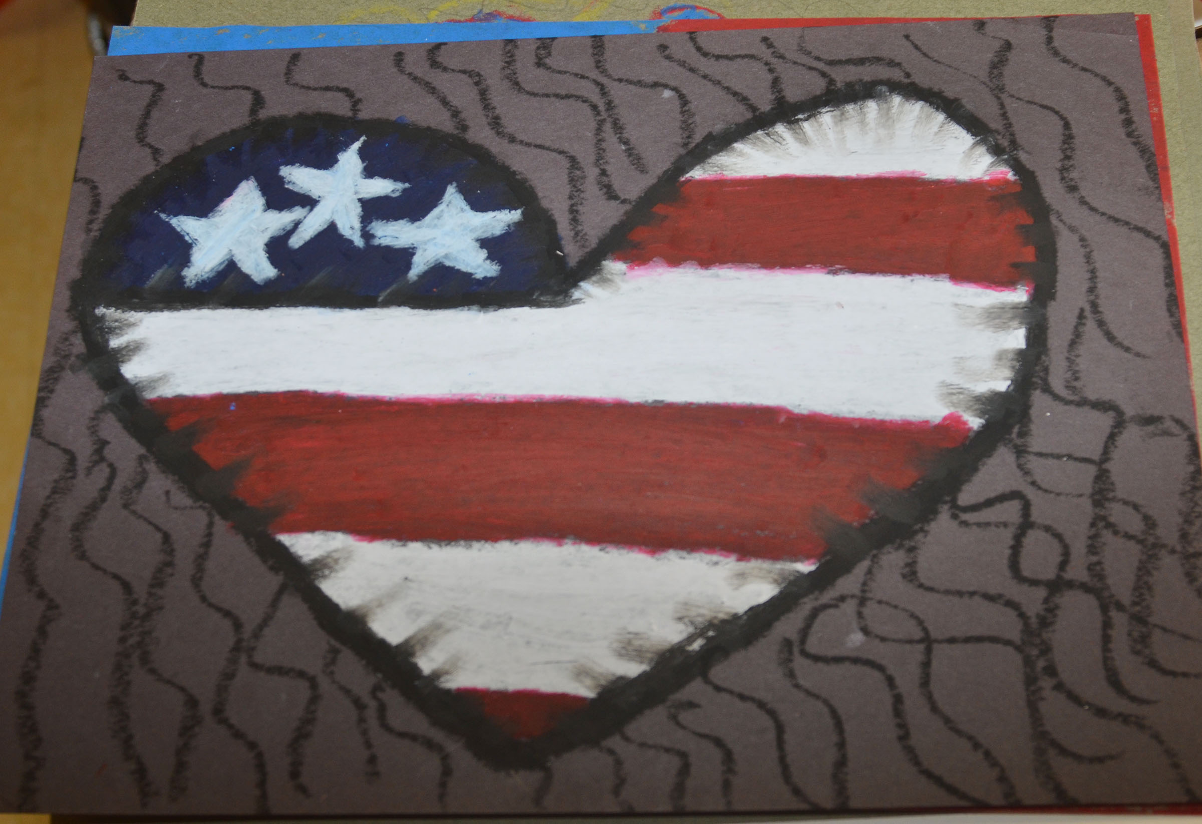CMS students recently made artwork to honor veterans.