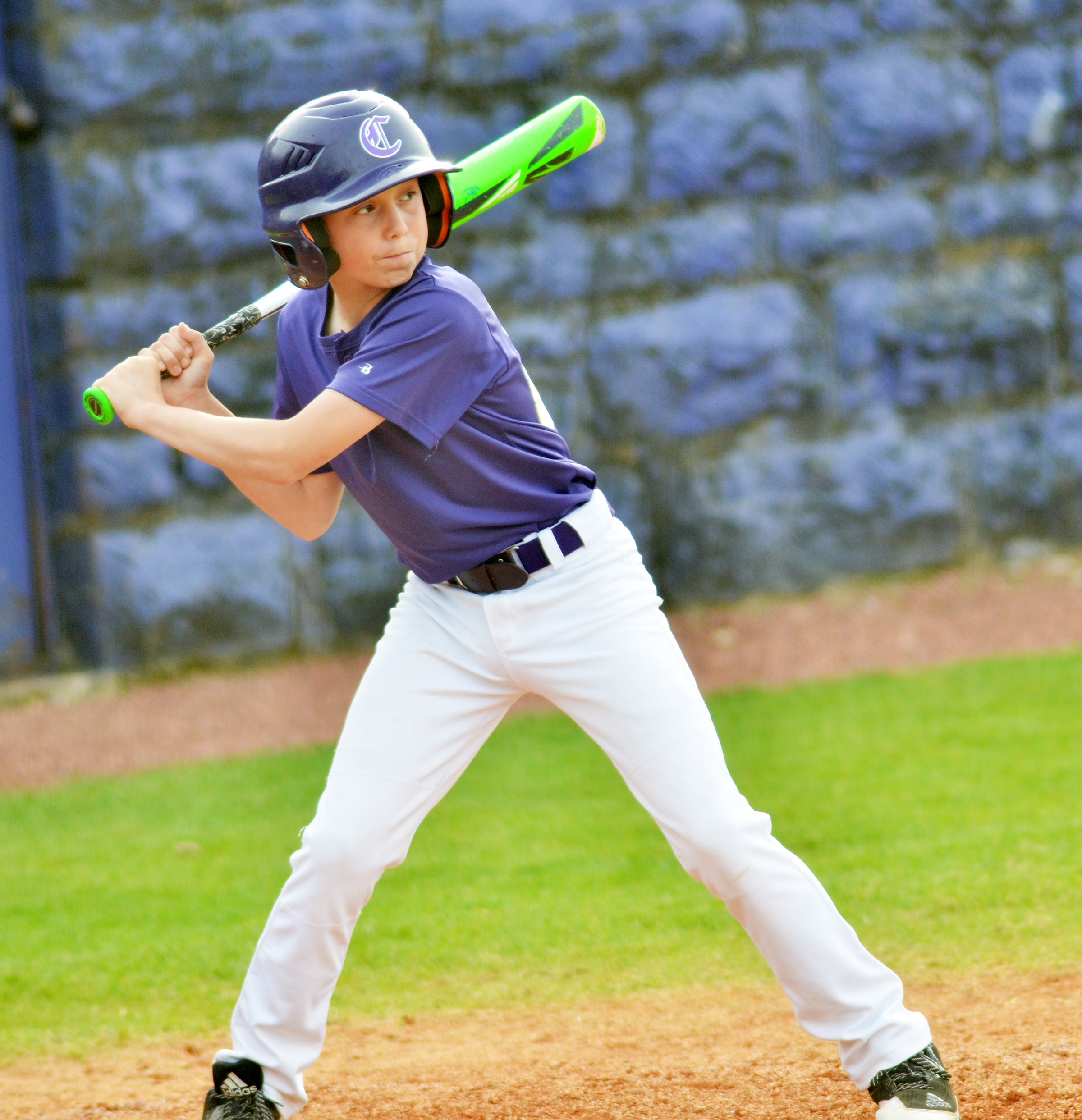 CMS seventh-grader Dakota Harris bats.