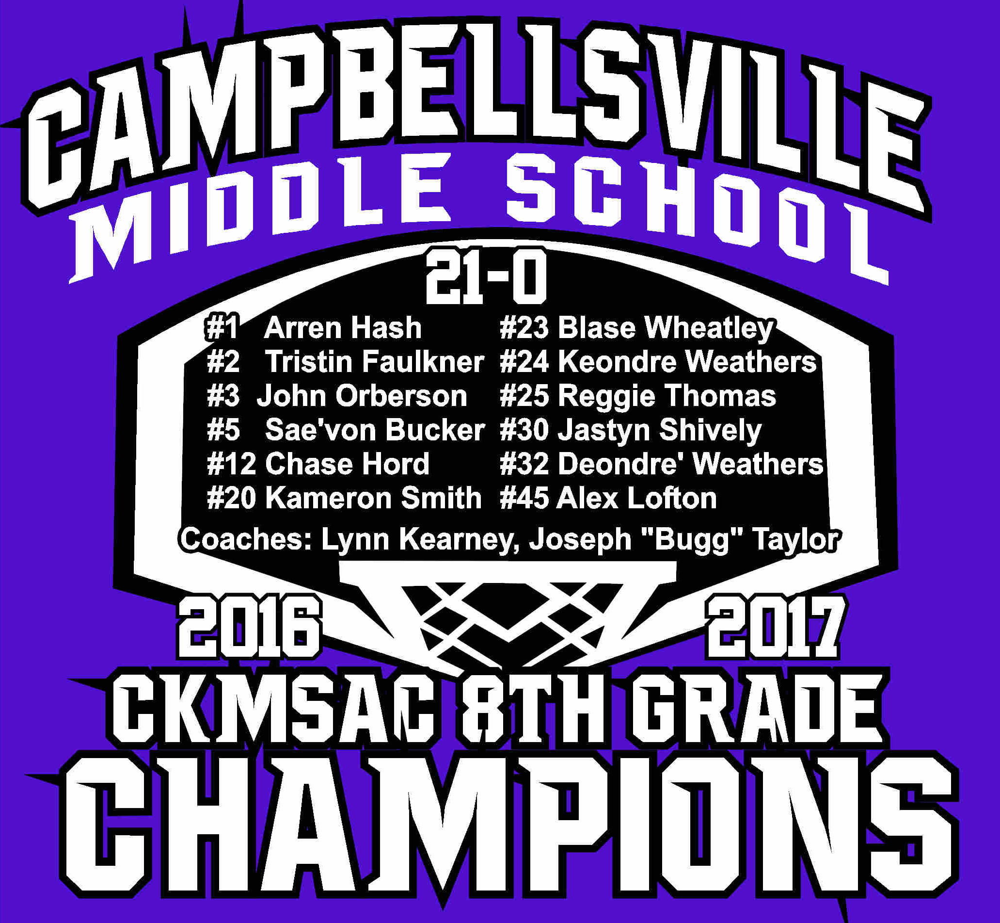 CMS BB Chamipionship Shirts Back