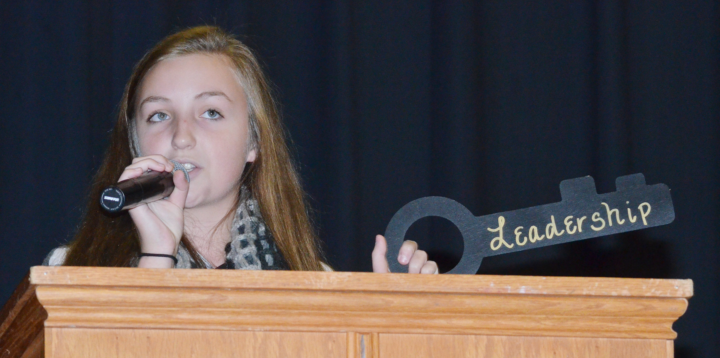 CMS Beta secretary and eighth-grader Lainey Watson talks about the leadership key.