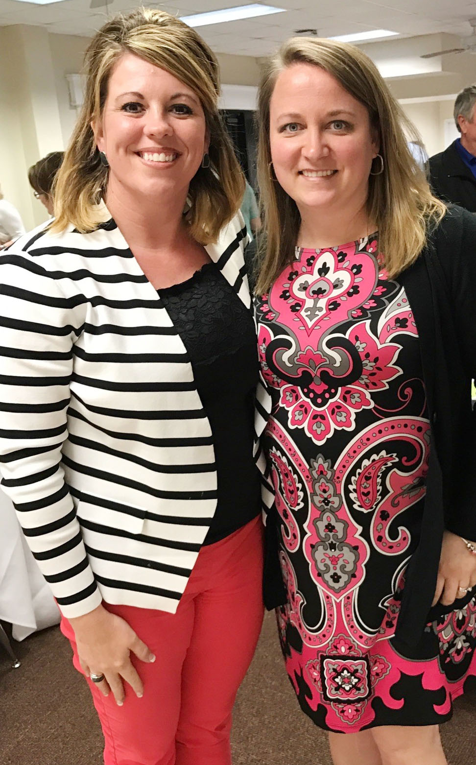 Katie Campbell, an exceptional child educator at CMS, is one of four teachers nominated for this year's Campbellsville/Taylor County Chamber of Commerce Educator of the Year award. The nominees were honored at the Chamber's annual banquet on Thursday, April 27. Campbell is pictured with CMS Principal Elisha Rhodes.