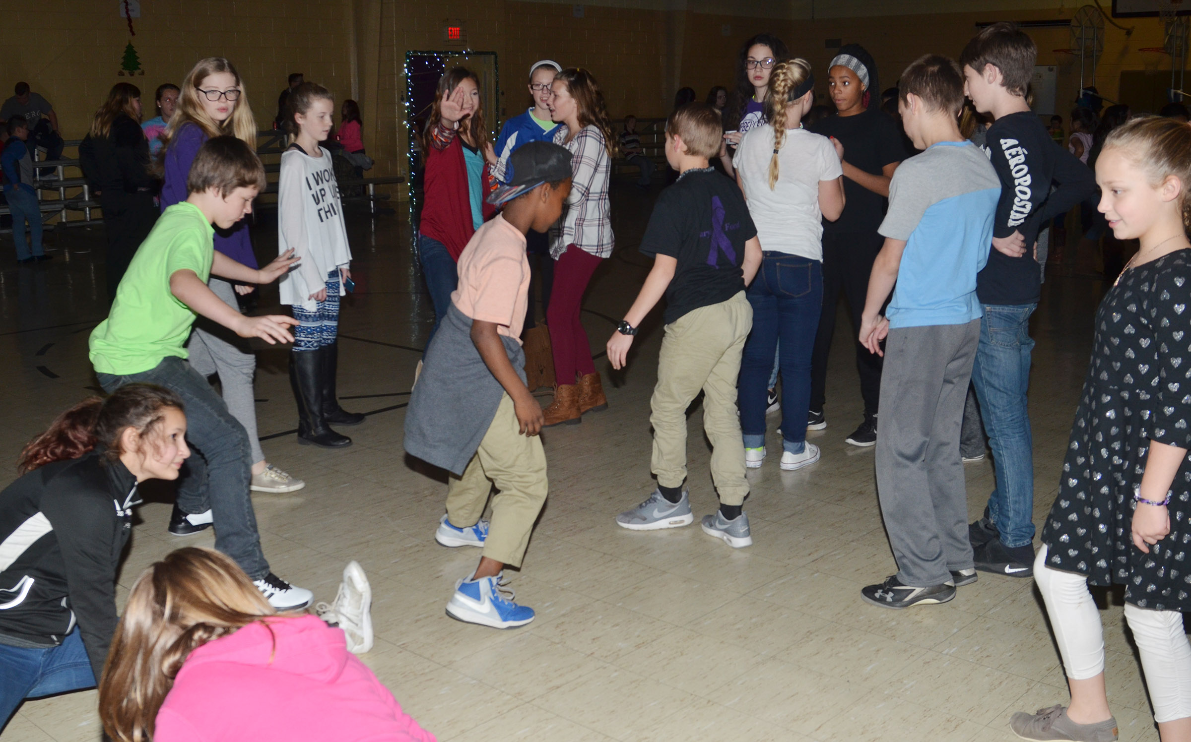 CMS students show off their dance moves.
