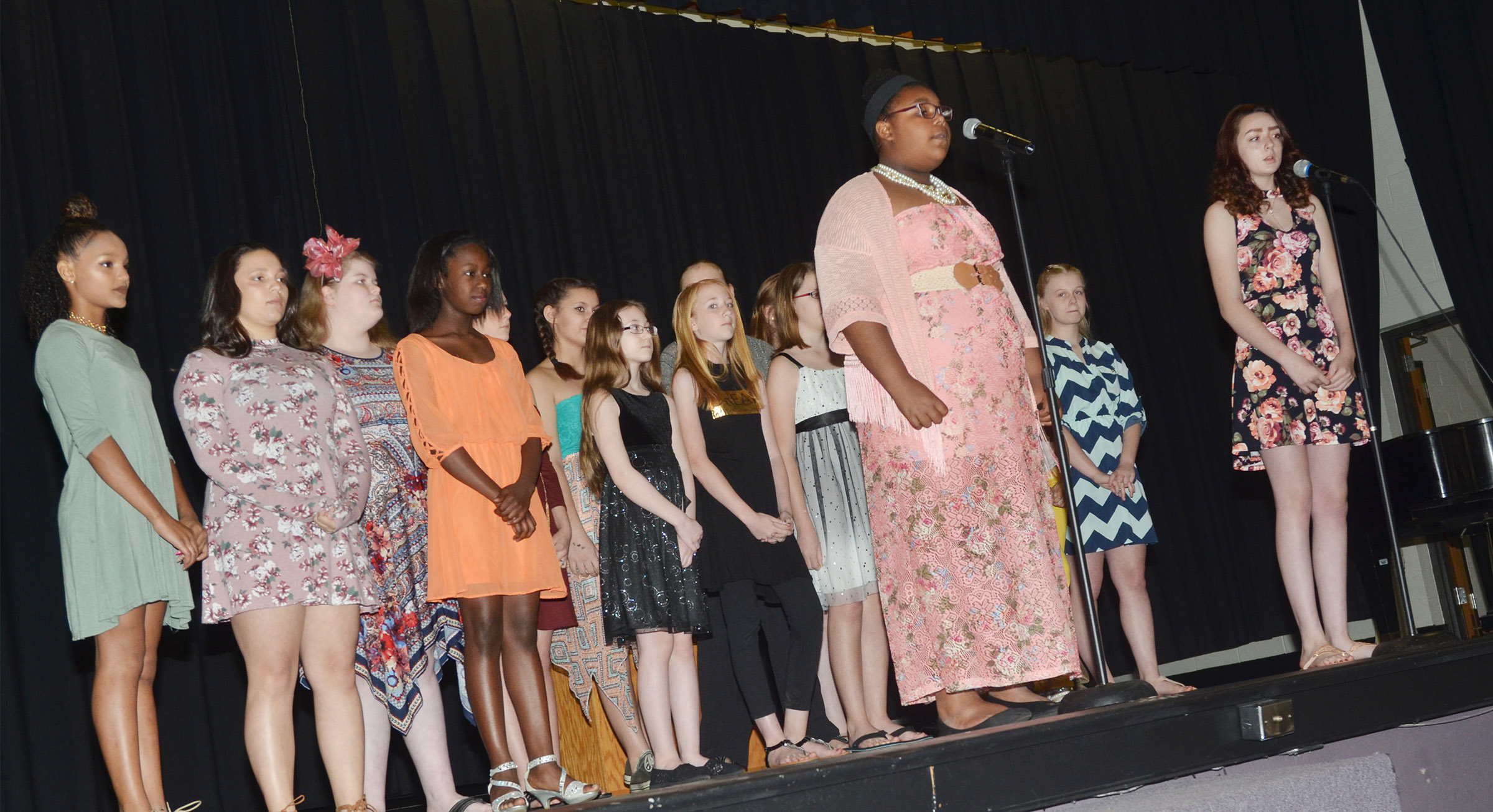 "CMS choir members perform ""Hall of Fame."""