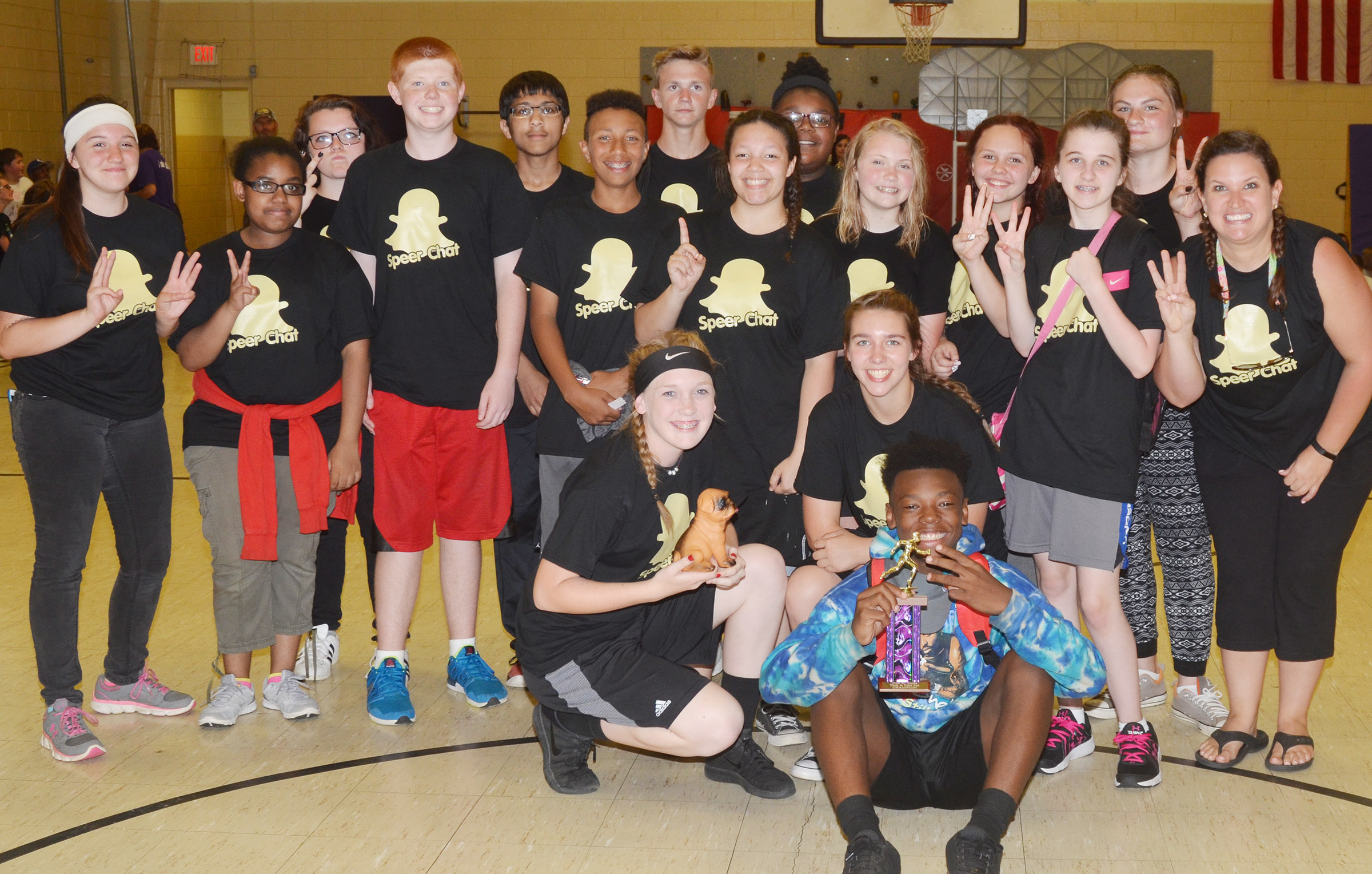 Robbilyn Speer's eighth-grade class repeated as Field Day winners.