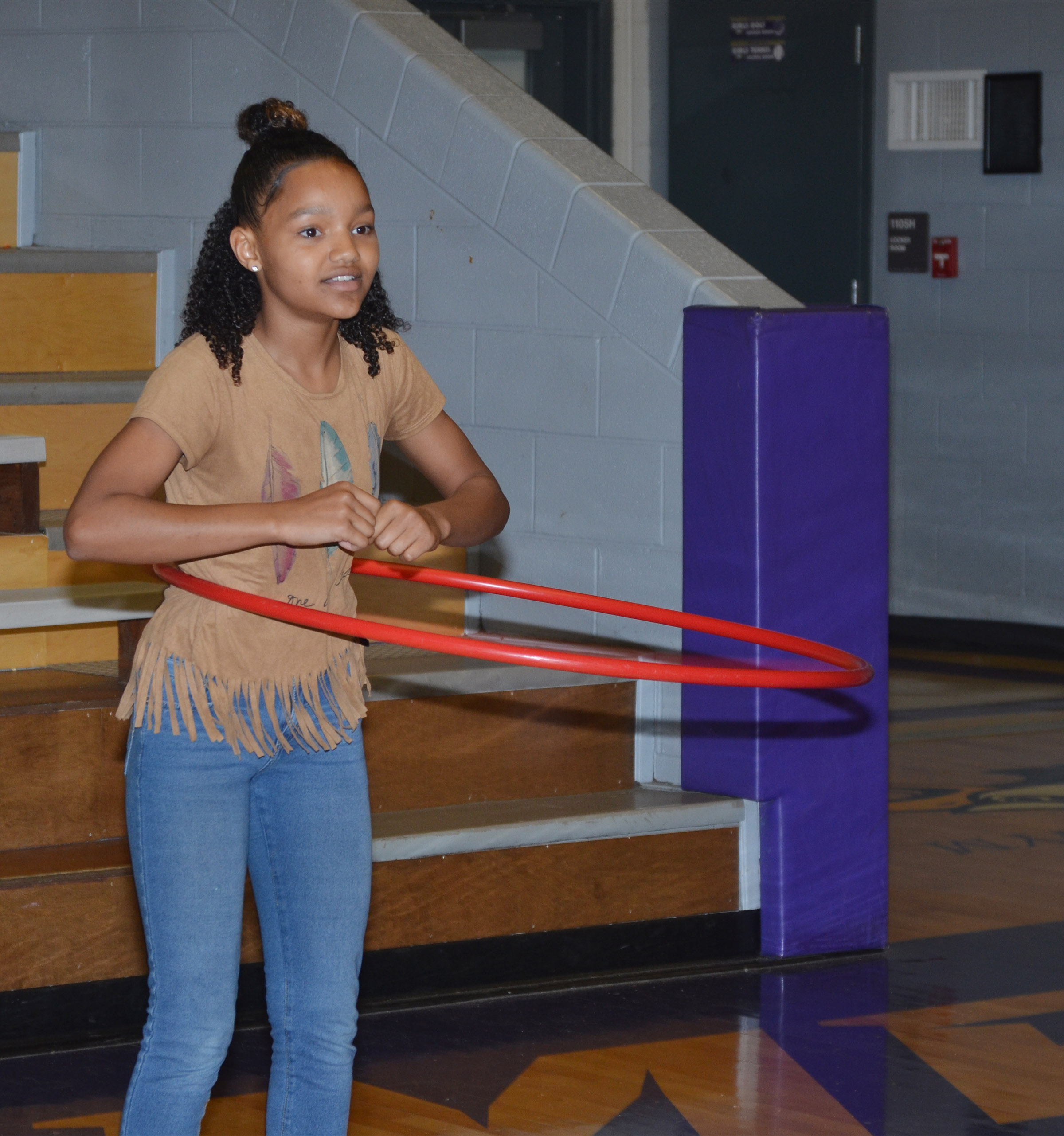 CMS seventh-grader Alexis Thomas competes.