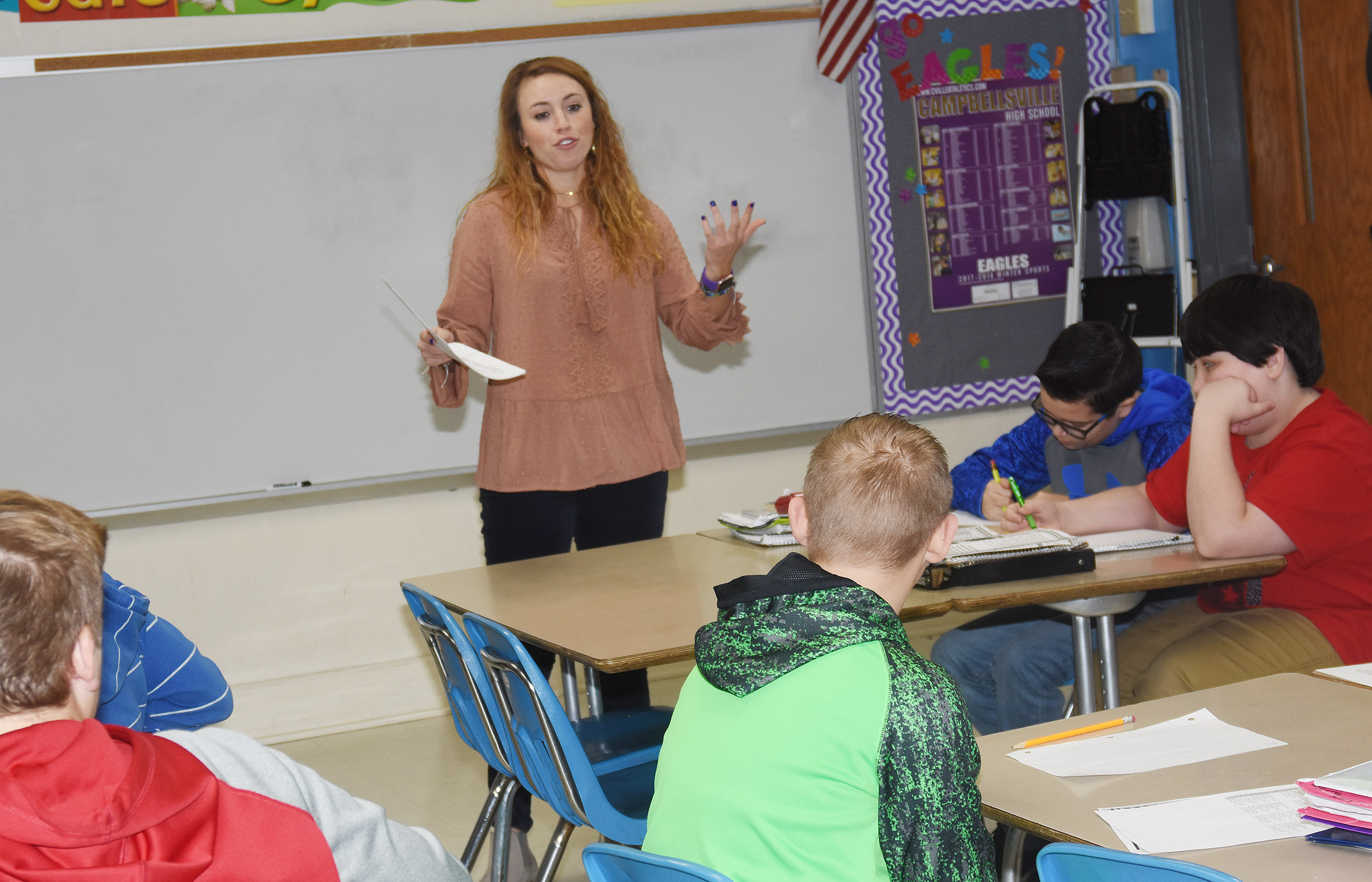 "CMS sixth-grade teacher LeeAnn Grider asks her students to prepare a ""survival guide"" to help her learn all about her new school."