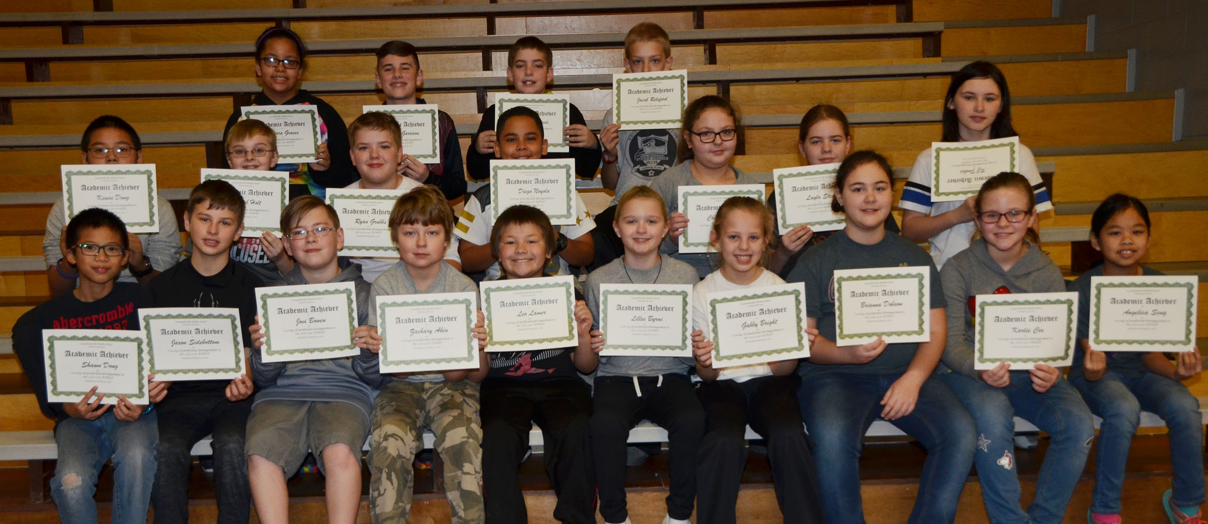 CMS fifth-graders are honored for scoring all proficient/distinguished on last school year's K-PREP exams.