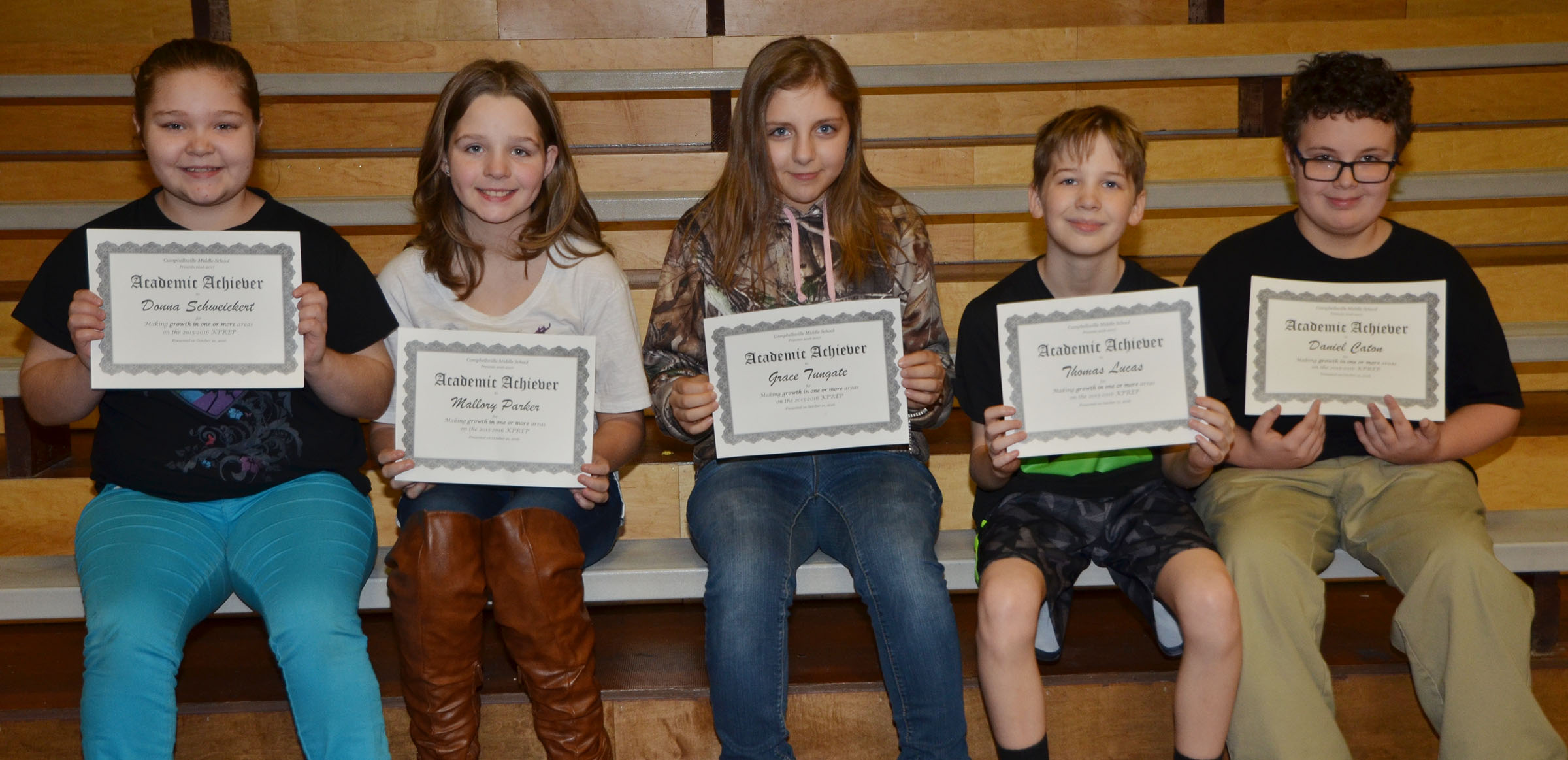 CMS fifth-graders are honored for showing growth in one or more areas on last school year's K-PREP exams.