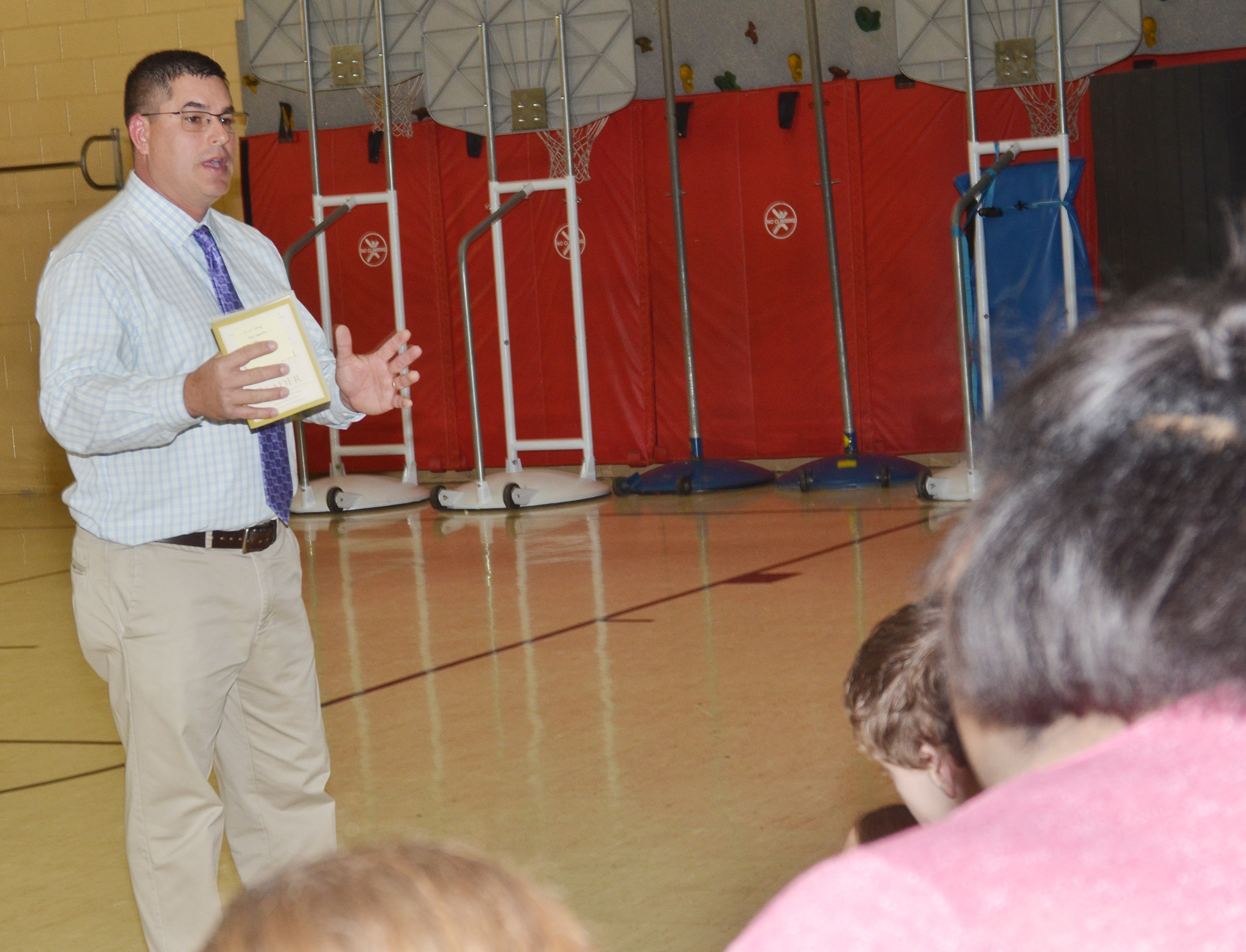 Campbellsville Independent Schools Superintendent Kirby Smith encourages CMS students to always do their best and take advantage of the help their teachers offer to them.