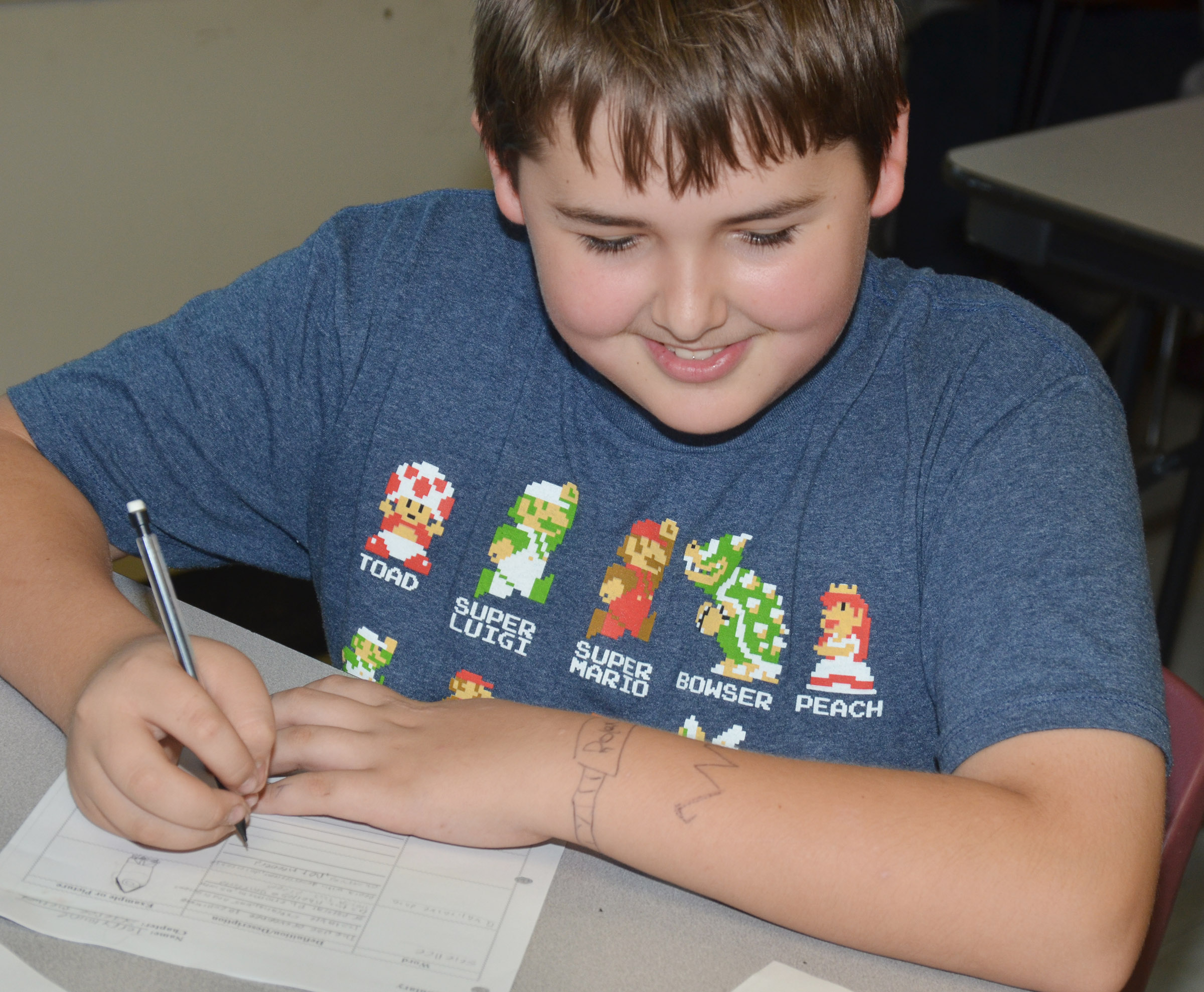 CMS eighth-grader Kaine Terry writes his science definitions in his own words.
