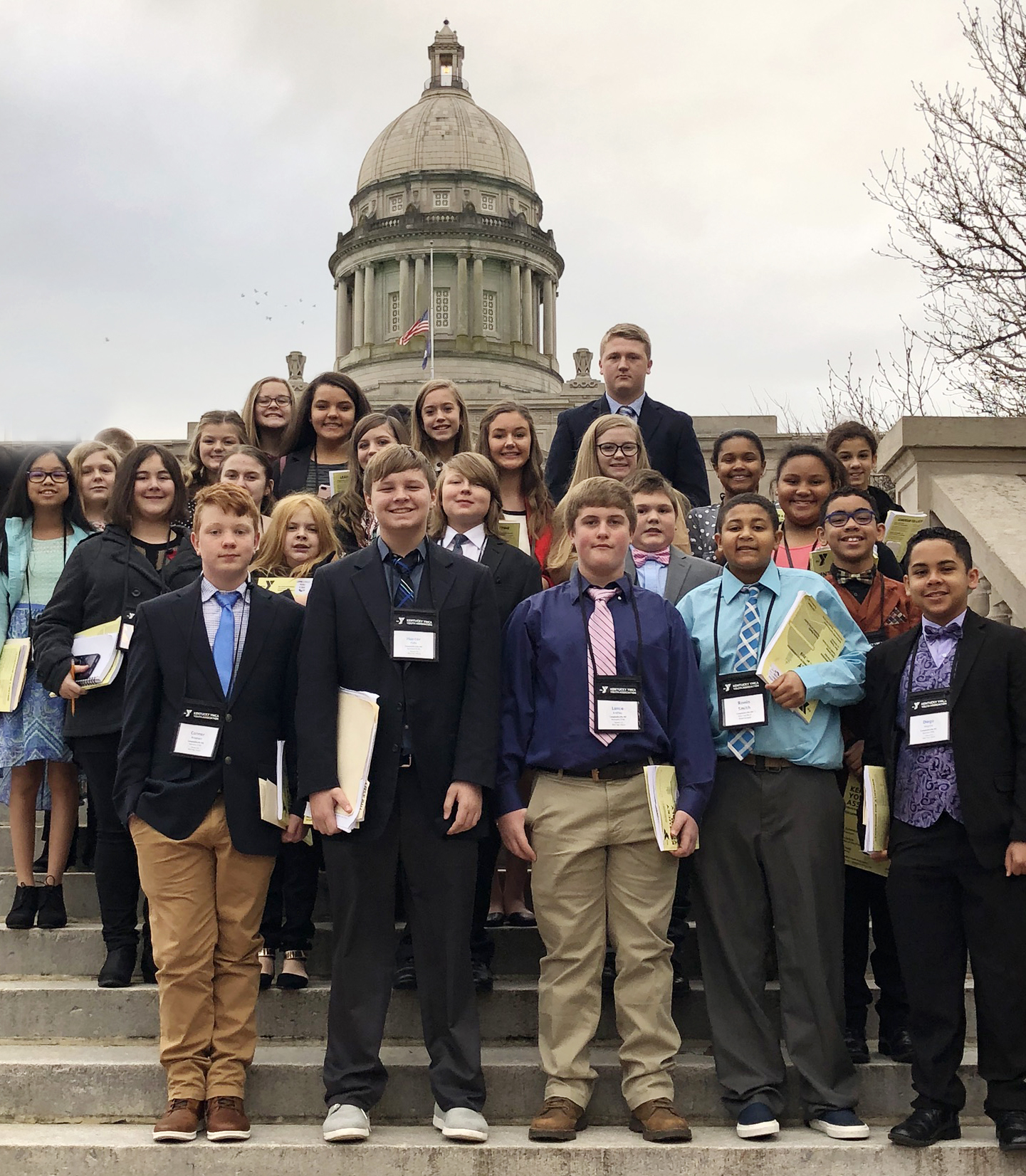 Campbellsville Middle School students were honored with several awards at the Kentucky Youth Assembly session on Dec. 3 and 4.