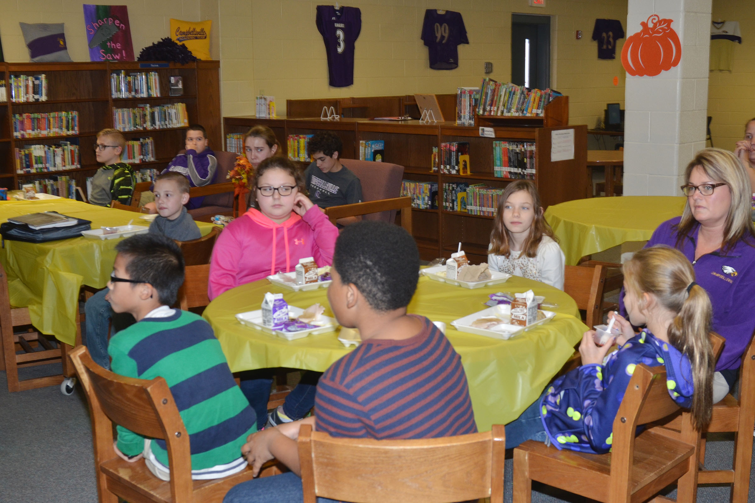 CMS student leaders are honored at a luncheon.