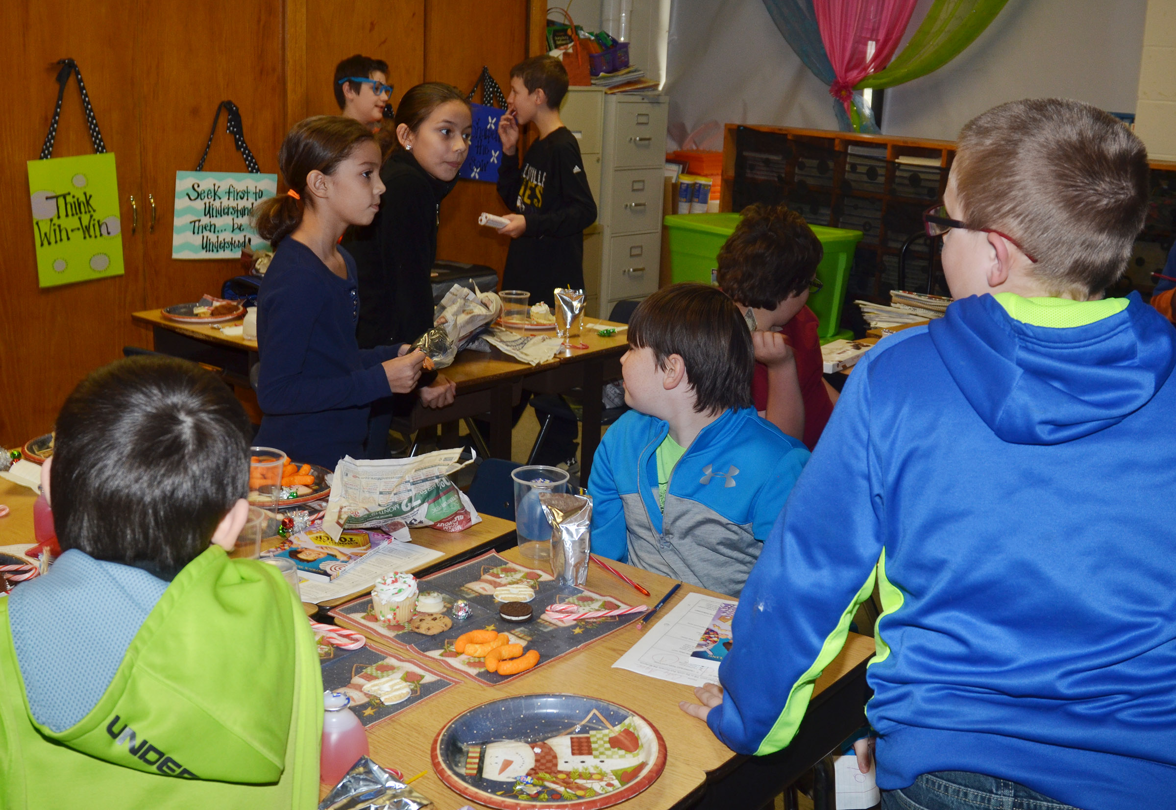 CMS fourth-graders decide if they want to keep their gifts or steal from their classmates.