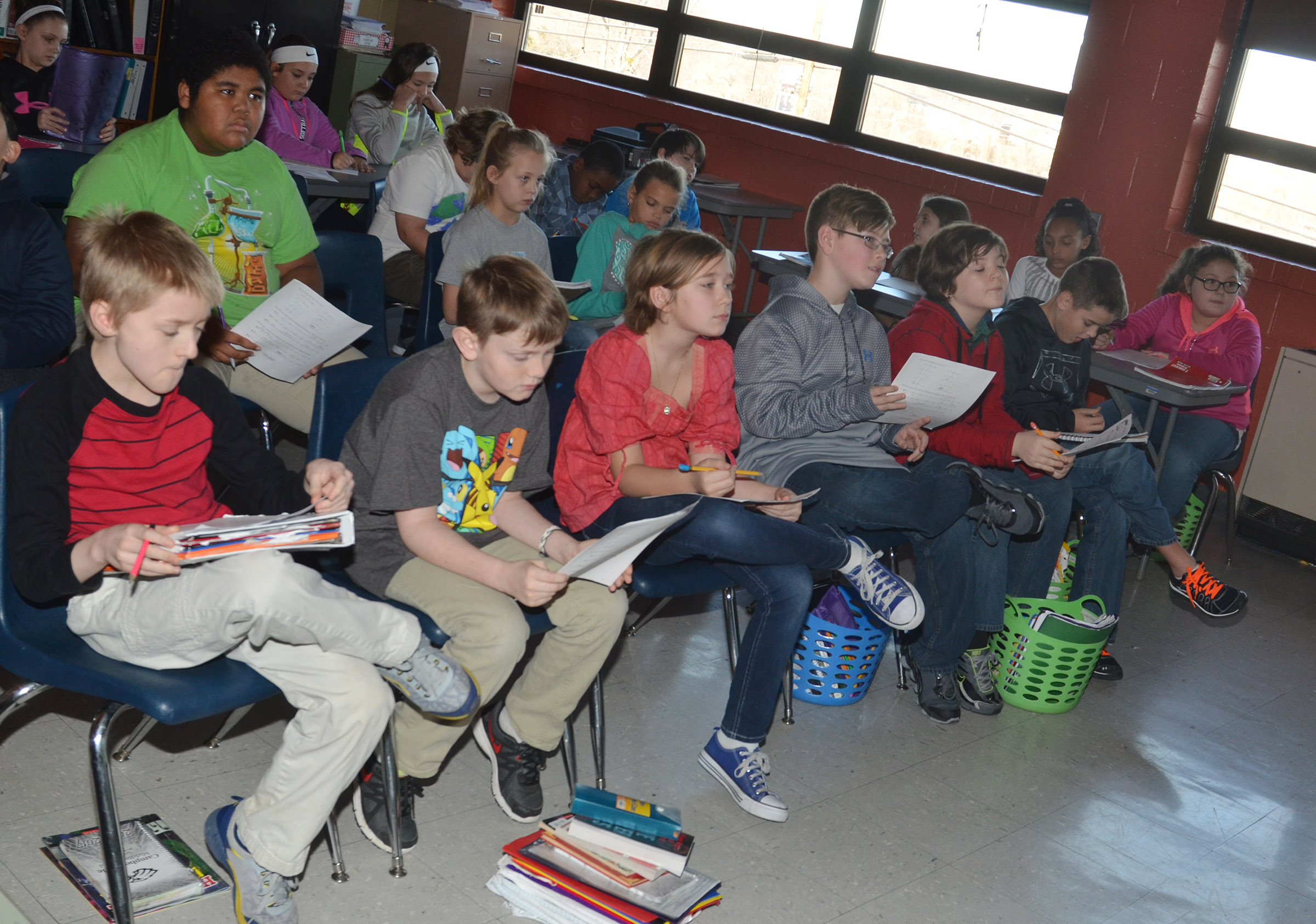 CMS fourth-, fifth- and sixth-graders learn how to write music.