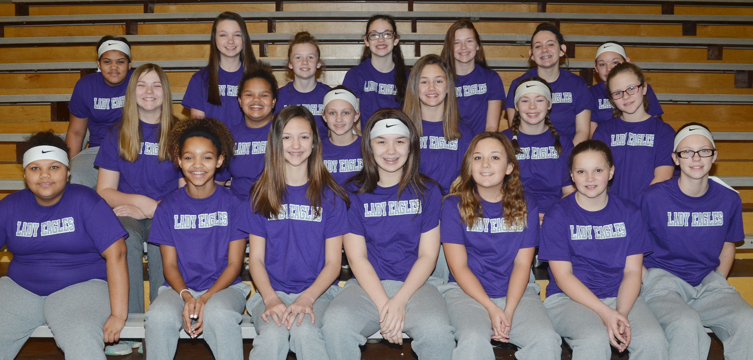 This year's CMS softball team includes, from left, front, sixth-grader Brooklyn Taylor, seventh-grader Alexis Thomas, sixth-grader Bri Hayes, seventh-grader Olivia Fields and sixth-graders Briana Davis, Graci Crews and Jade Wheeler. Second row, seventh-grader Isabella Vannice, sixth-graders Alissa Lofton, Alexis Byers and Haylee Allen and fifth-graders CheyAnn Edwards and Karlie Cox. Back, sixth-grader Asia Barbour, seventh-grader Karley Morris, sixth-graders Dakota Slone, Mary Russell and Breanna Humphress, eighth-grader Kaylee Reynolds and fourth-grader Piper Maggard.