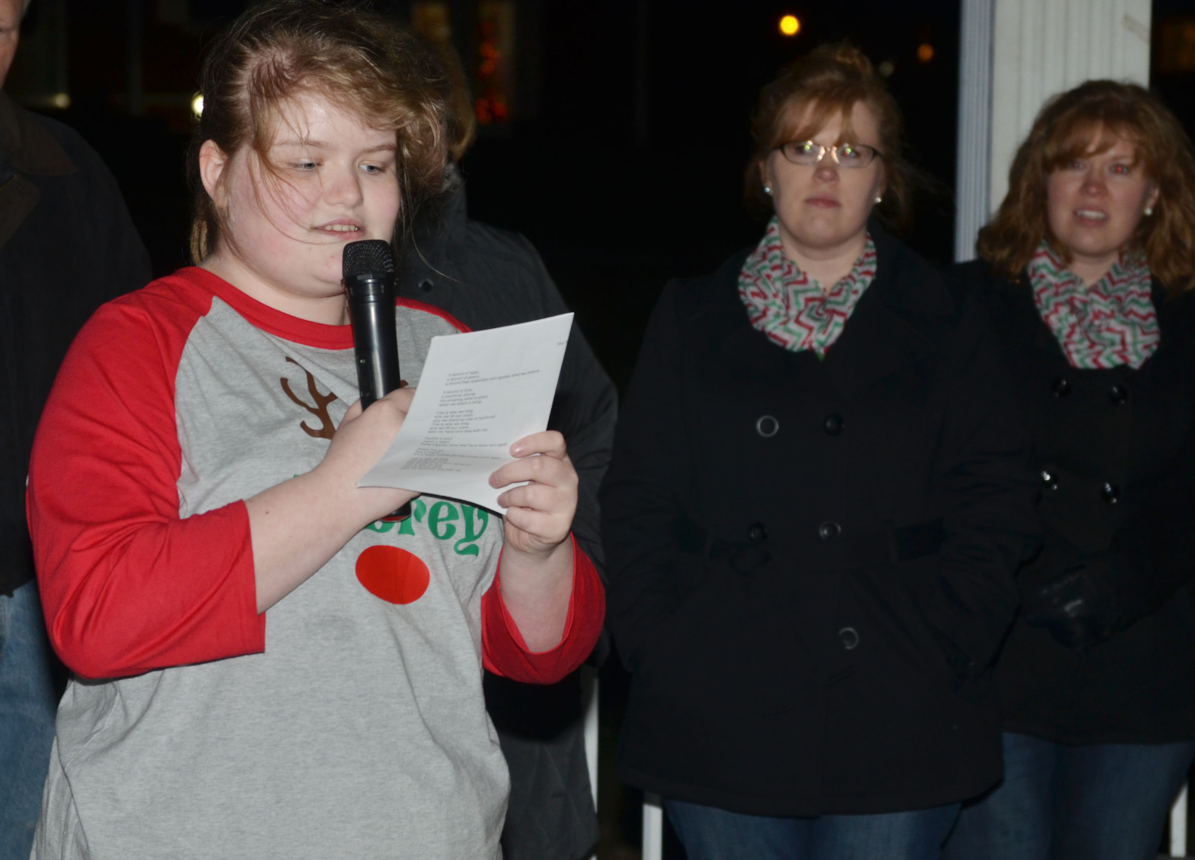 CMS sixth-grader Aubrey Young sings.
