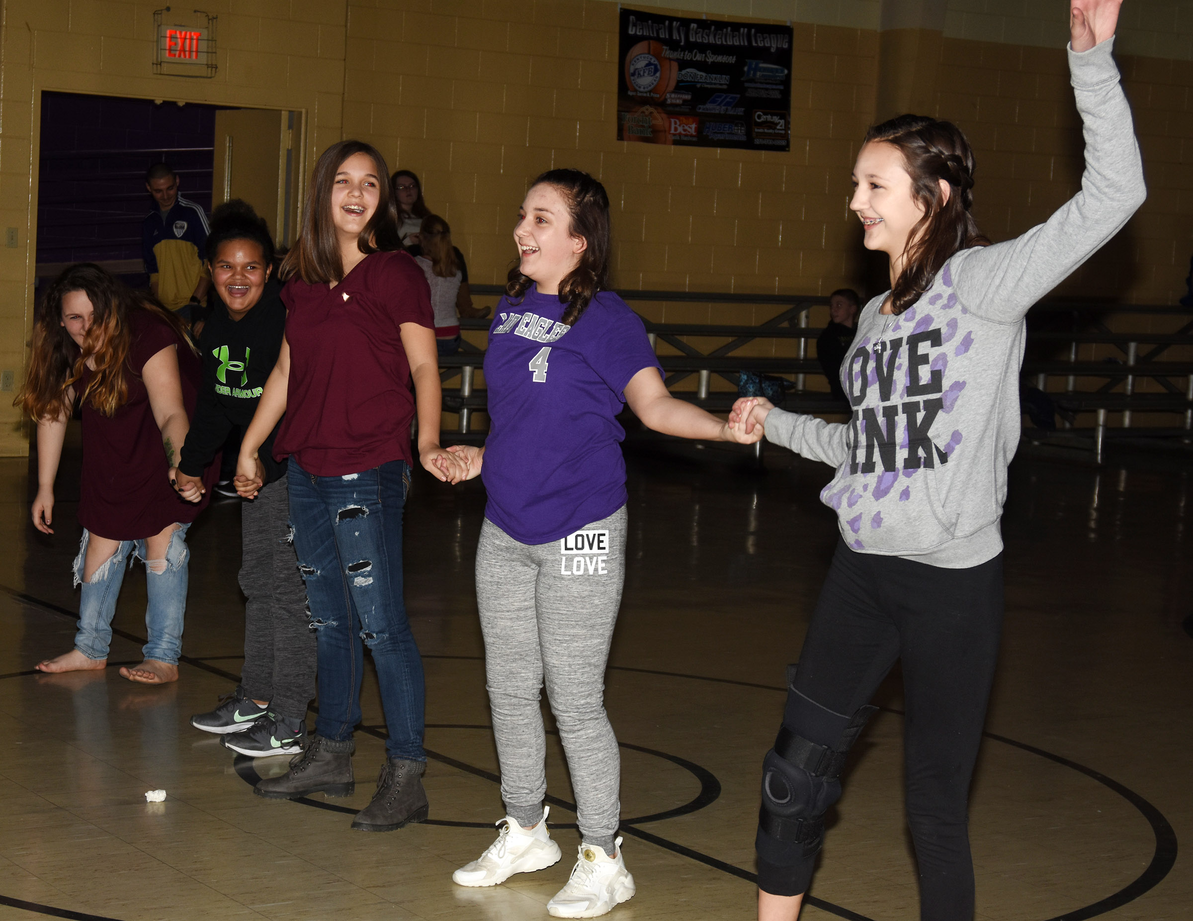 CMS students have fun at their Valentine's Day dance.