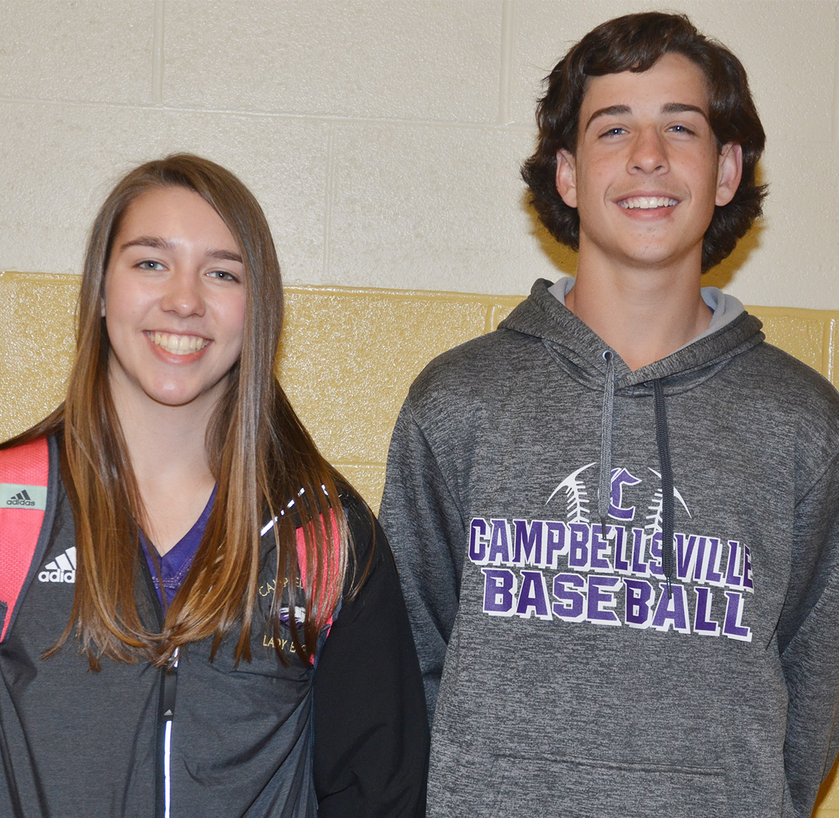 Campbellsville Middle School eighth-graders Abi Wiedewitsch, at left, and John Orberson have been chosen to attend the Rogers Explorers program this summer.