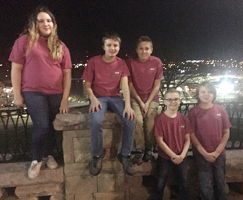 CMS students chosen to participate in the Western Kentucky University Middle School Honors Band Clinic are, from left, seventh-graders Kadence Houk and Tyler Booth, eighth-grader Jayden Murphy and sixth-graders Caleb Holt and Zachary Akin.